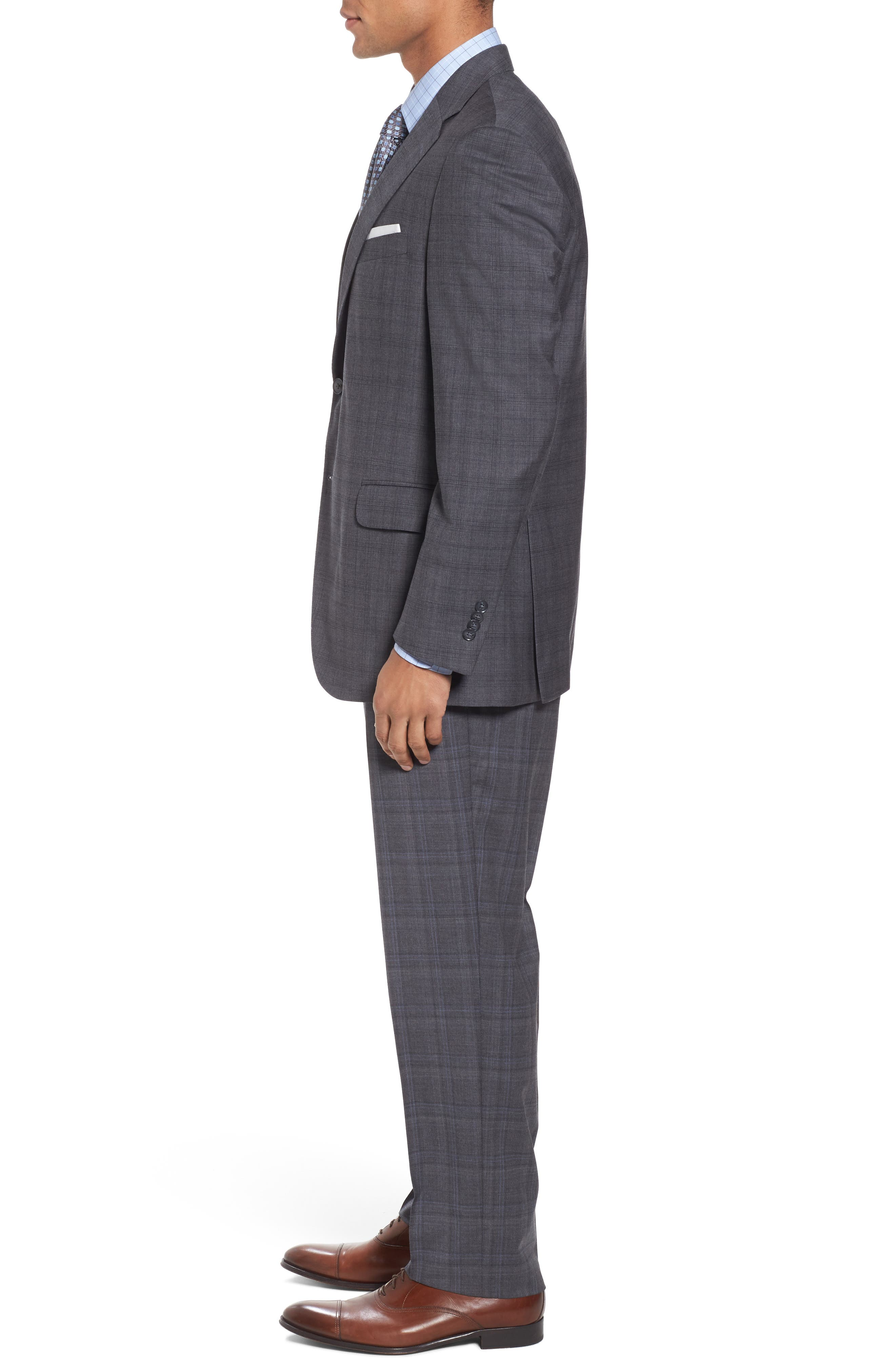 Alternate Image 3  - Peter Millar Classic Fit Plaid Wool Suit