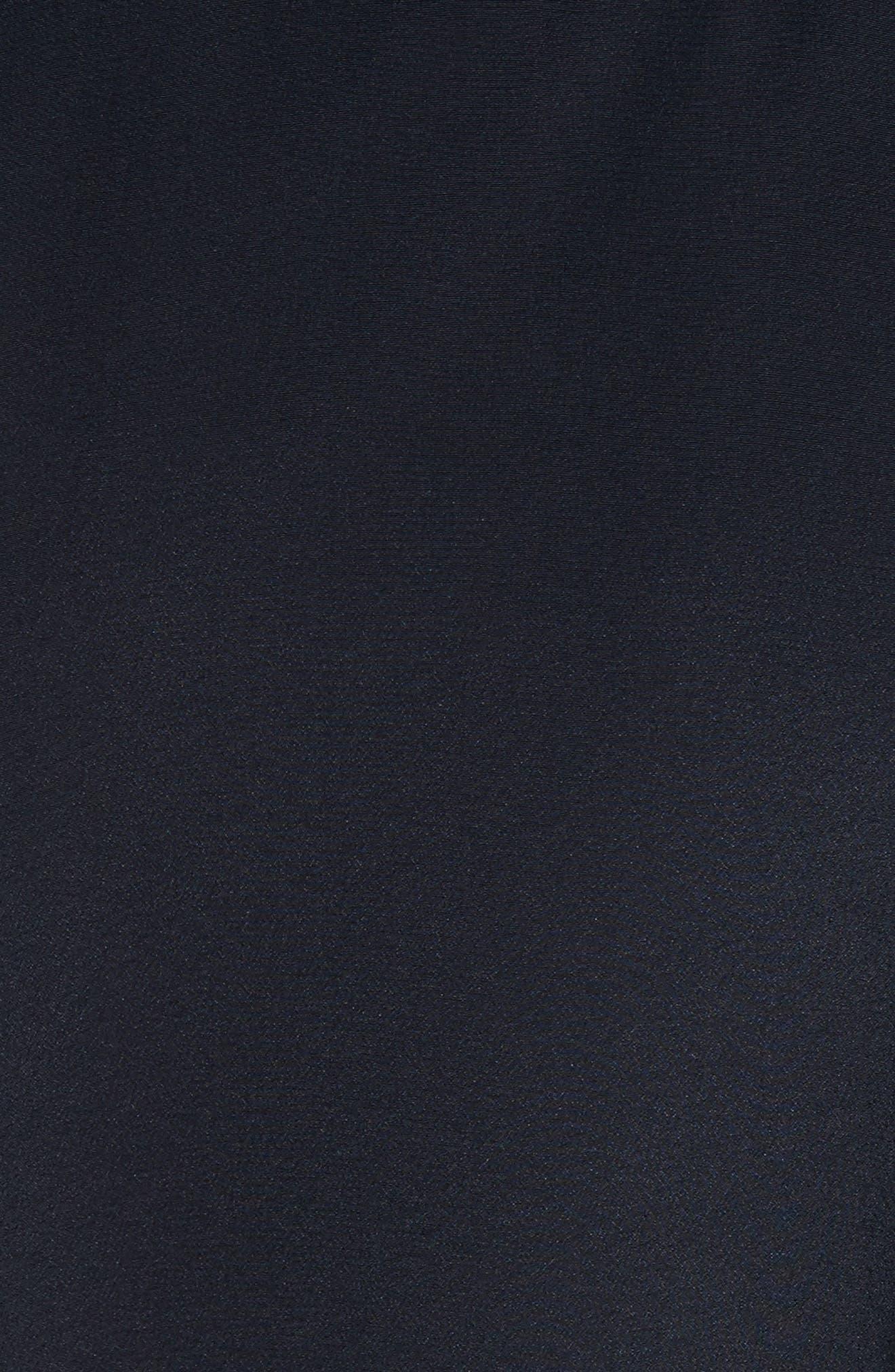 Cannon Flutter Sleeve Silk Dress,                             Alternate thumbnail 5, color,                             Midnight