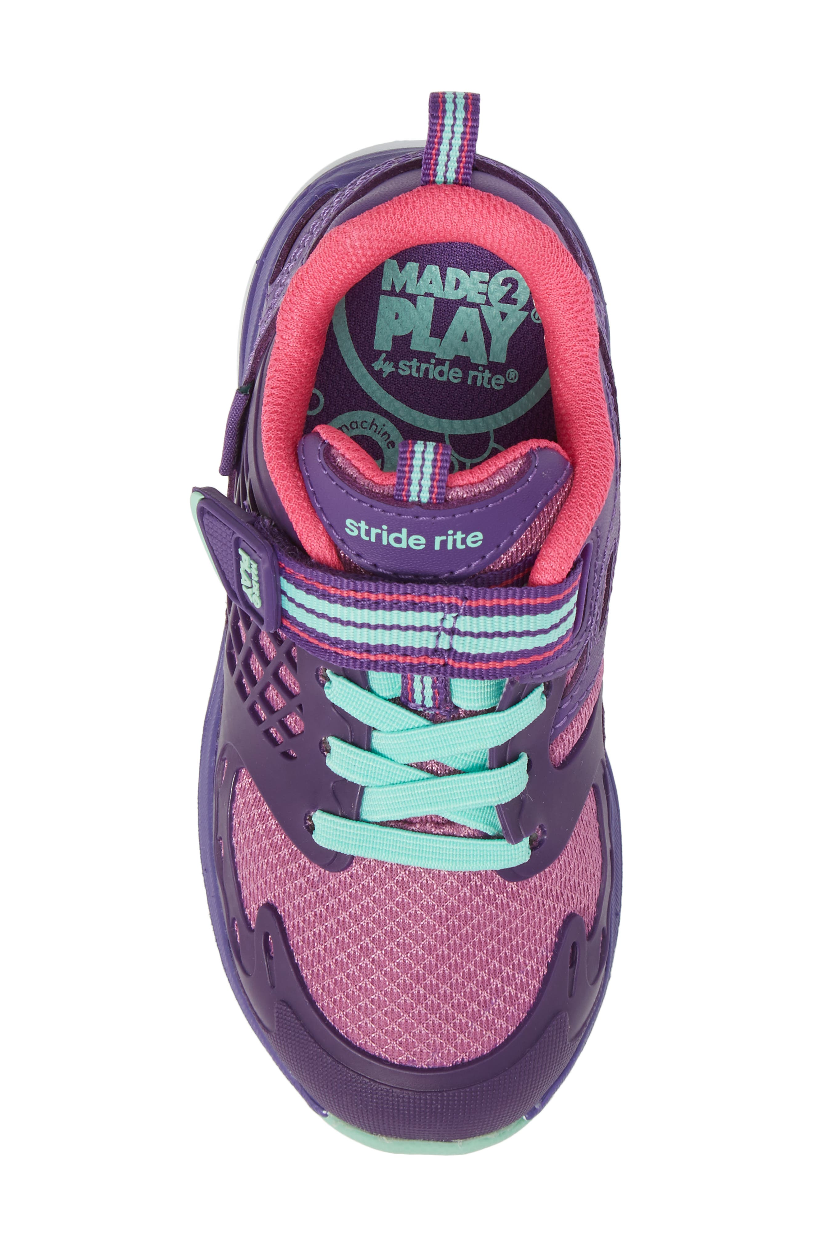 'Made2Play<sup>®</sup> Cannan Lace' Sneaker,                             Alternate thumbnail 5, color,                             Purple Leather/ Textile