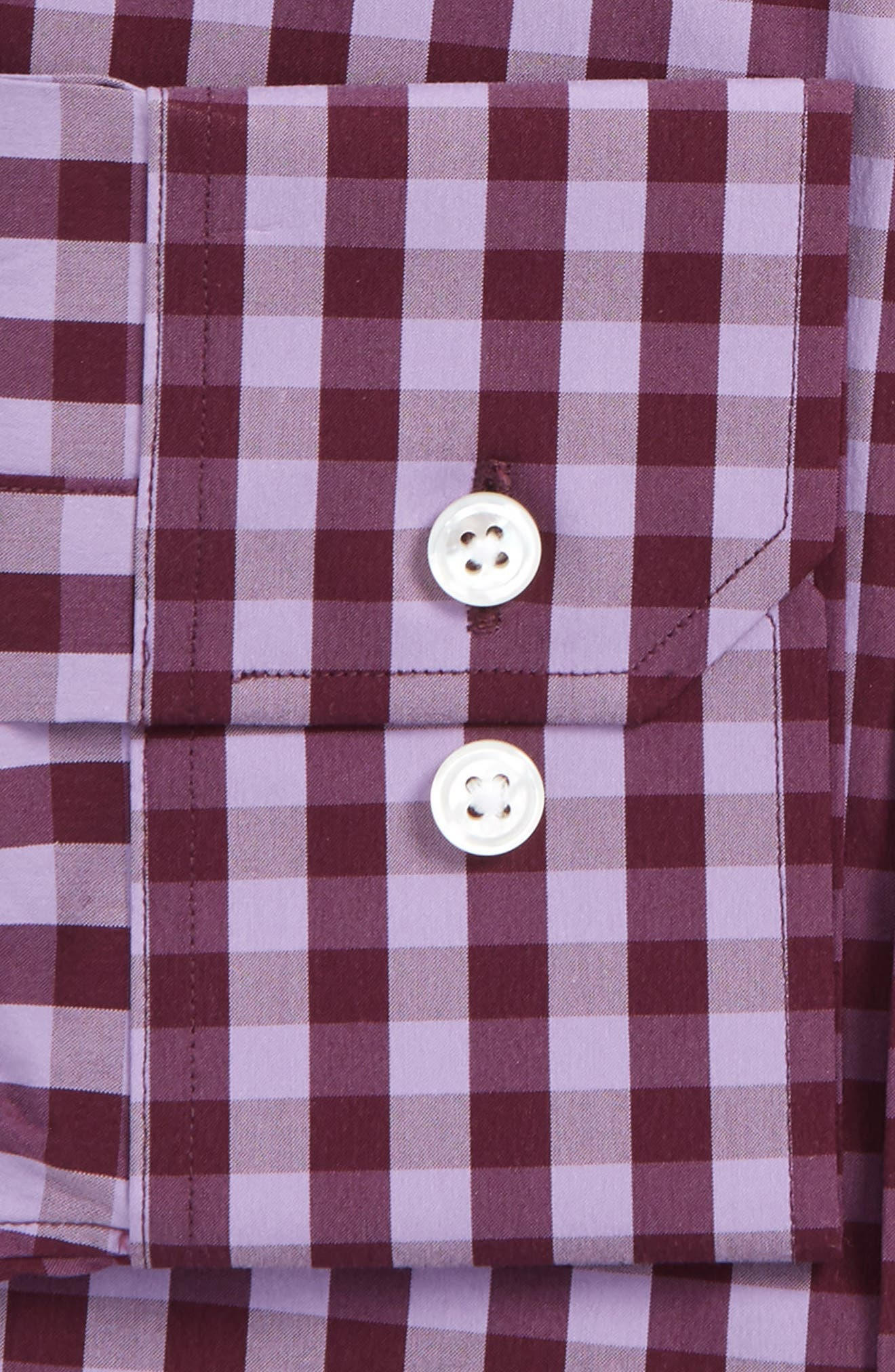 Slim Fit Stretch Check Dress Shirt,                             Alternate thumbnail 2, color,                             Pure Lavender