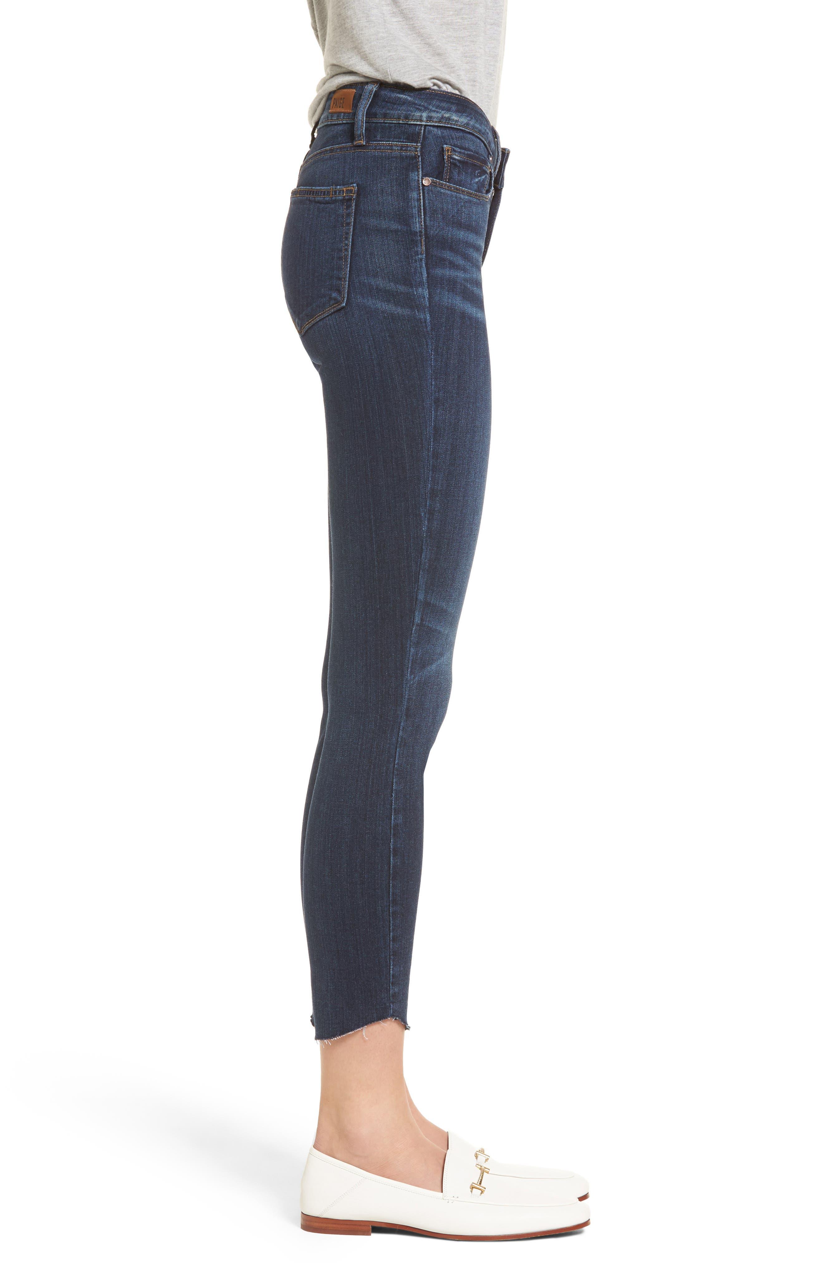 Transcend - Verdugo Ankle Ultra Skinny Jeans,                             Alternate thumbnail 3, color,                             Oaklyn