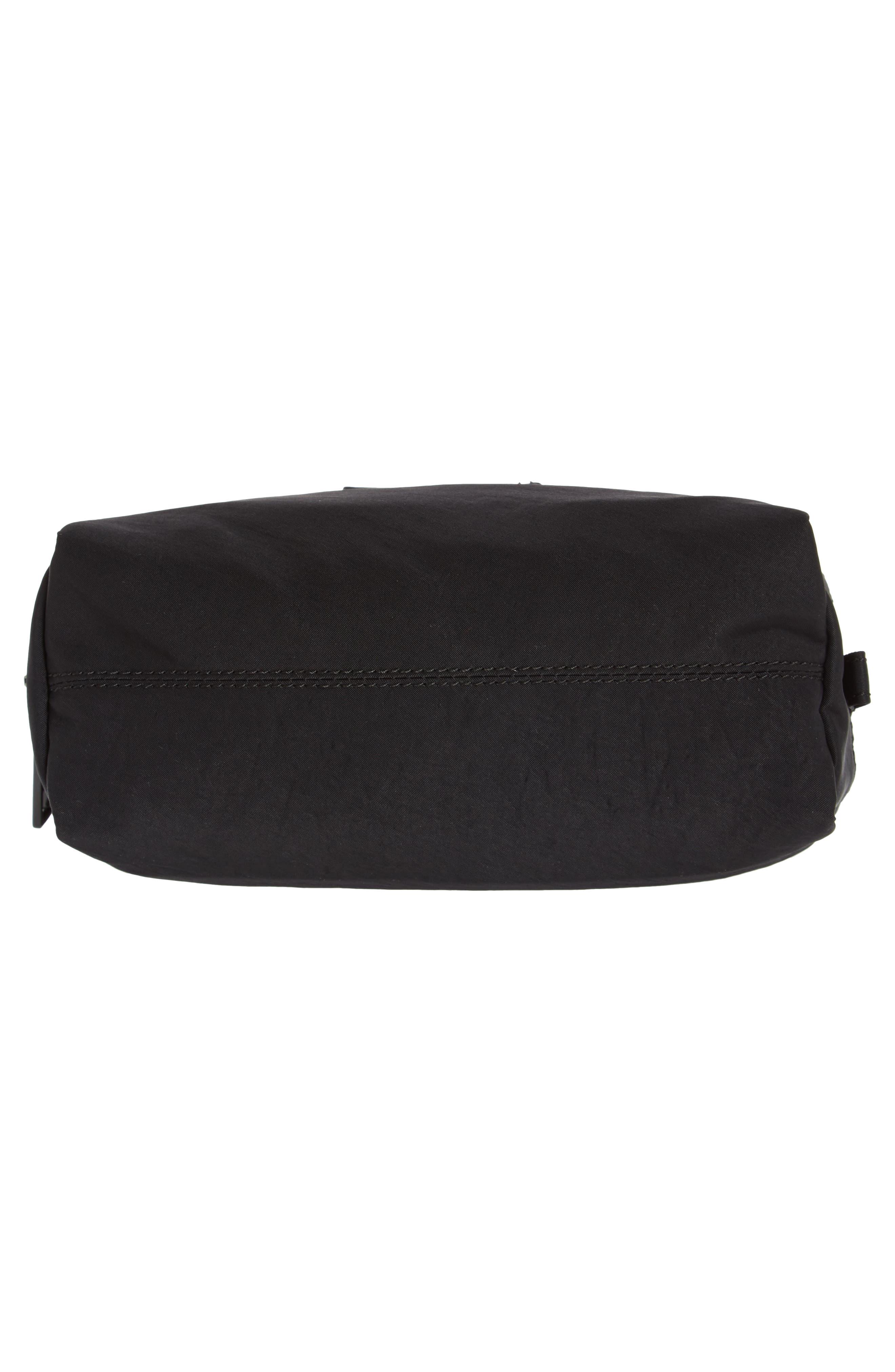 Nylon Cosmetics Pouch,                             Alternate thumbnail 5, color,                             Black