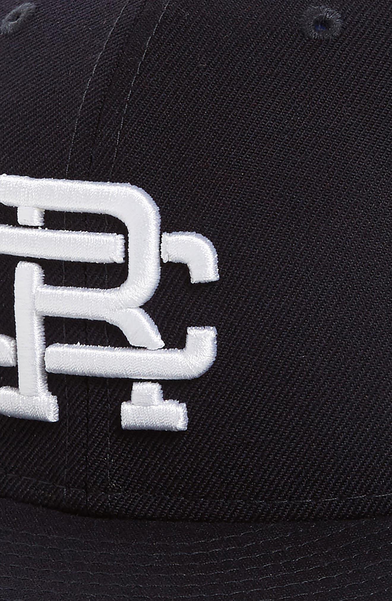 New Era Fitted Baseball Cap,                             Alternate thumbnail 3, color,                             Navy