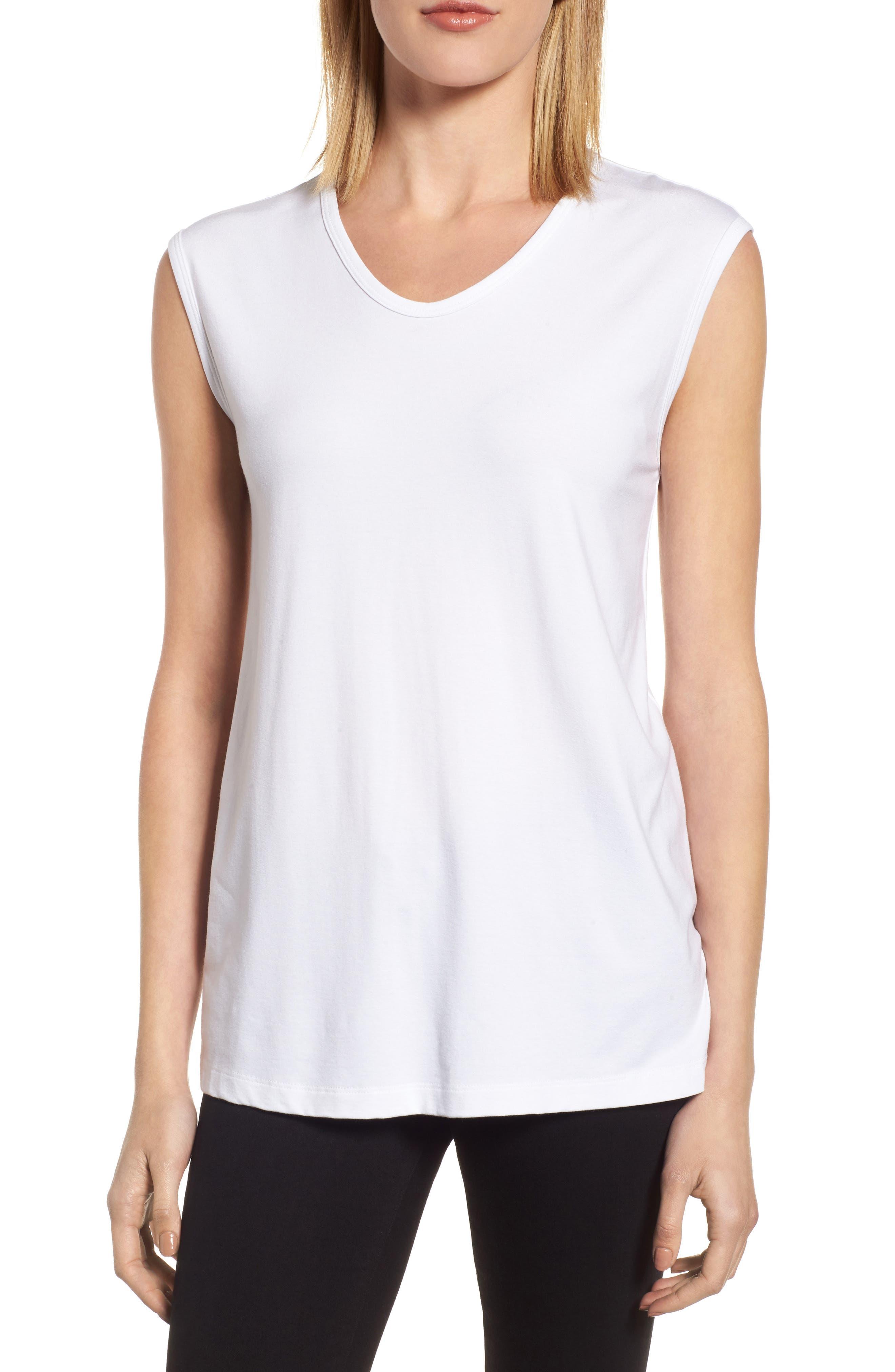 Main Image - Eileen Fisher U-Neck Stretch Jersey Tunic