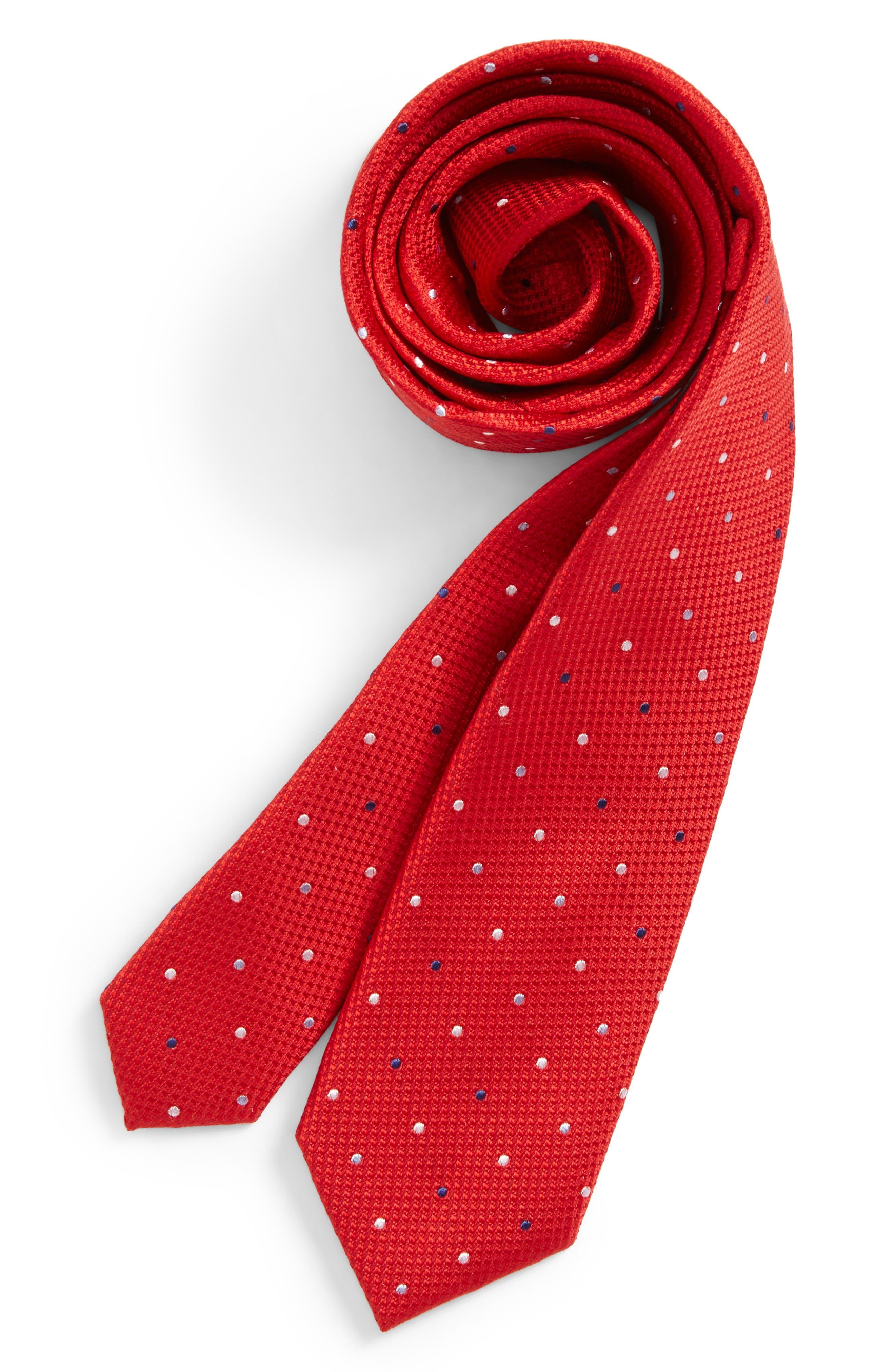 Alternate Image 1 Selected - Nordstrom Dot Silk Tie (Big Boys)