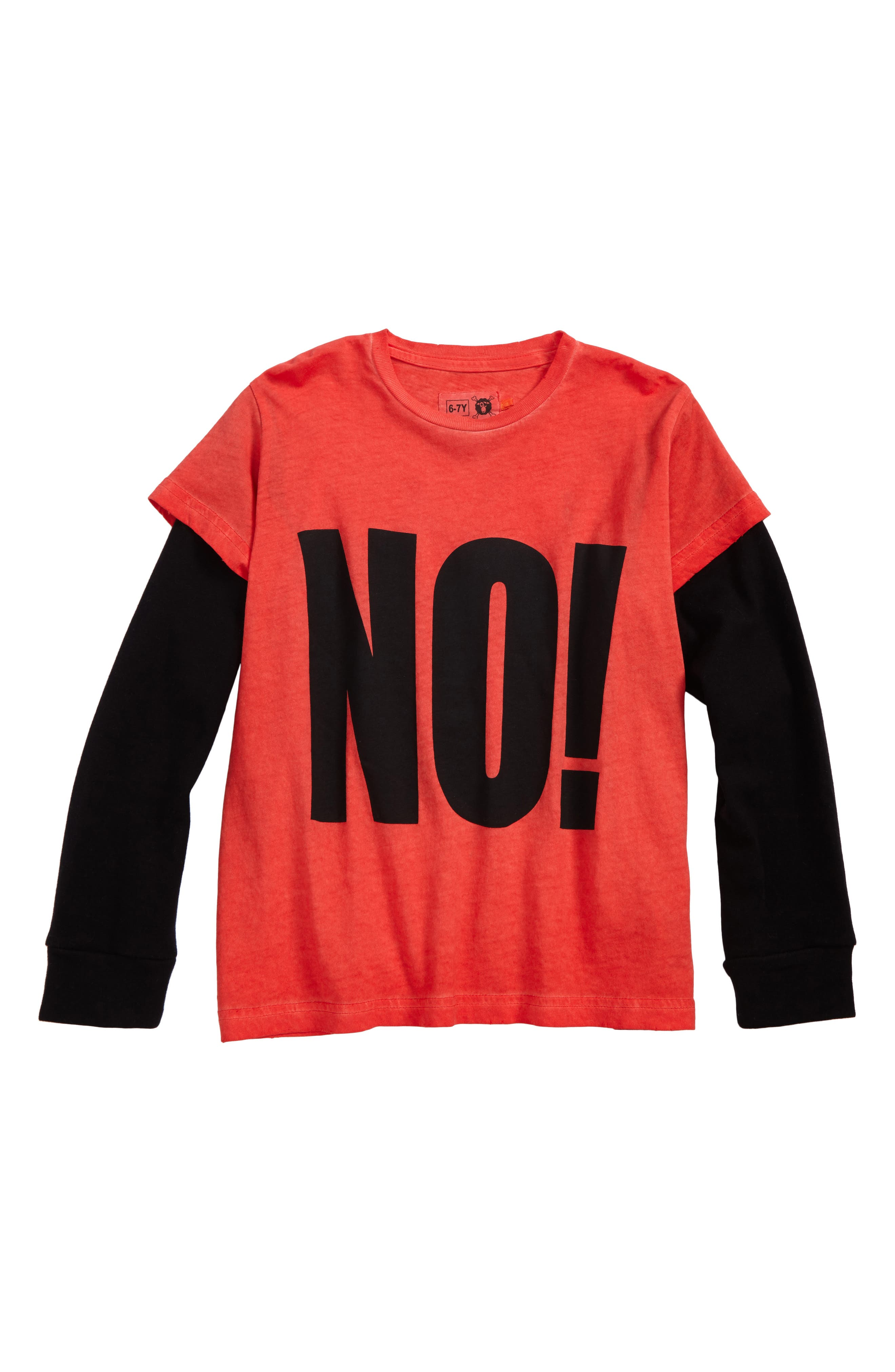 No! Graphic T-Shirt,                         Main,                         color, Dyed Red