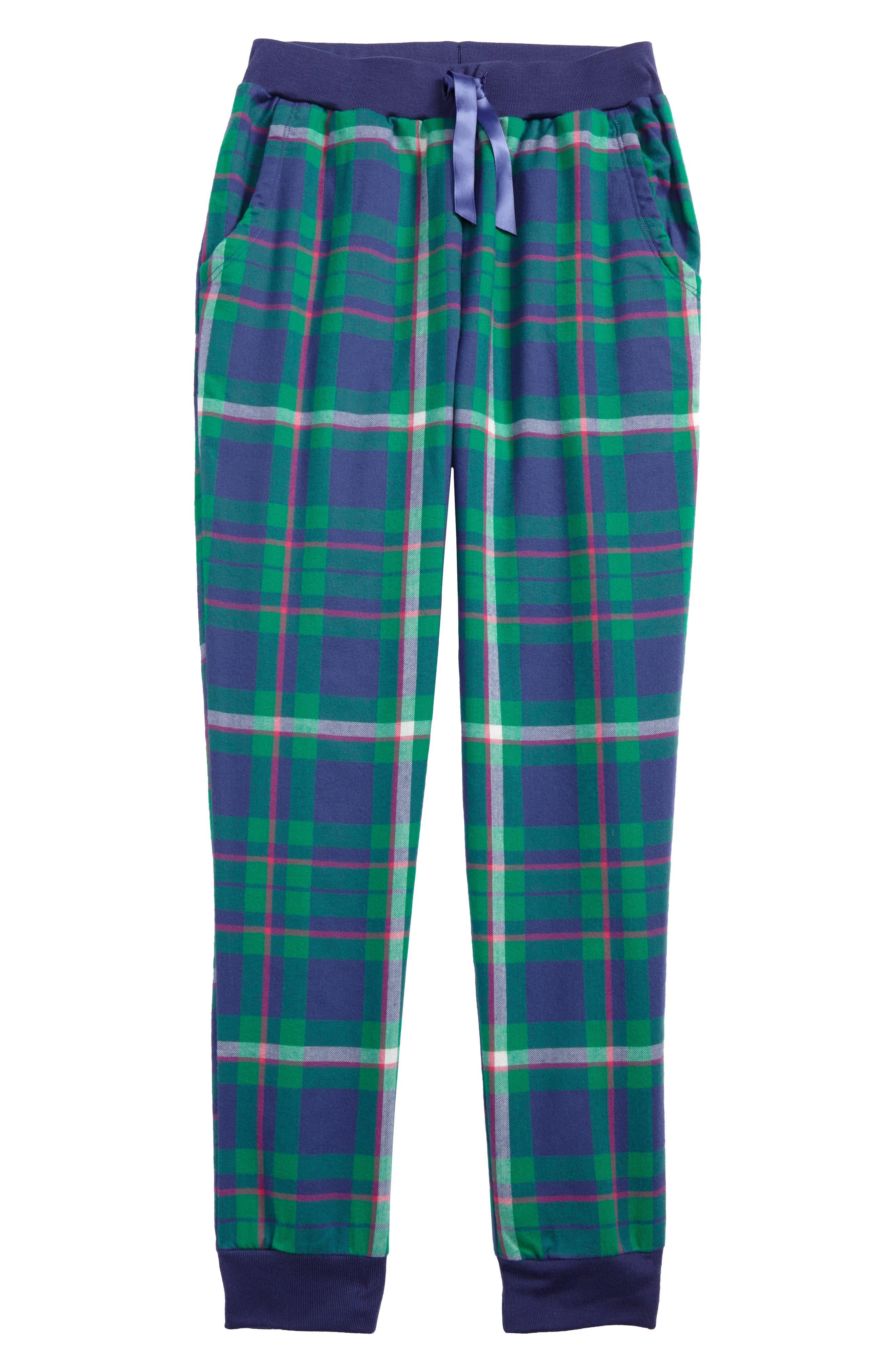 Flannel Pajama Pants,                         Main,                         color, Green Genius Plaid