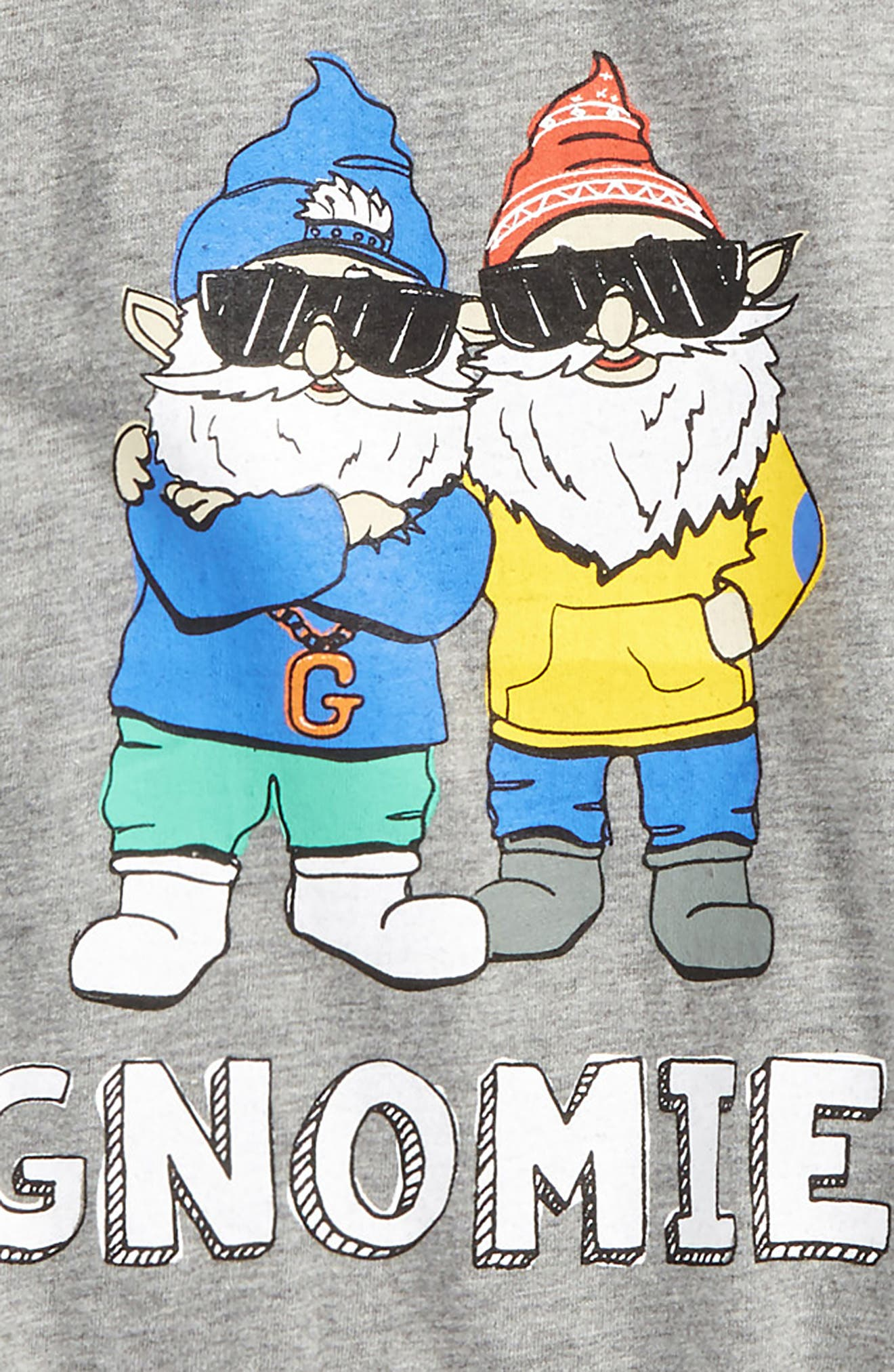 Gnomies Graphic T-Shirt,                             Alternate thumbnail 2, color,                             Grey