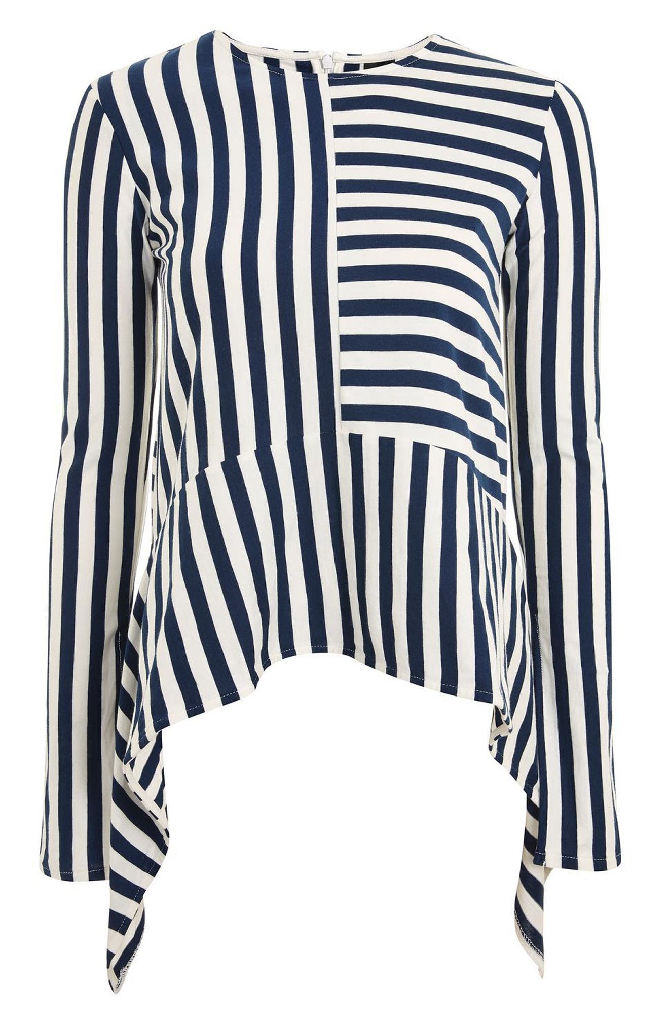 Topshop Boutique Cutabout Stripe Top
