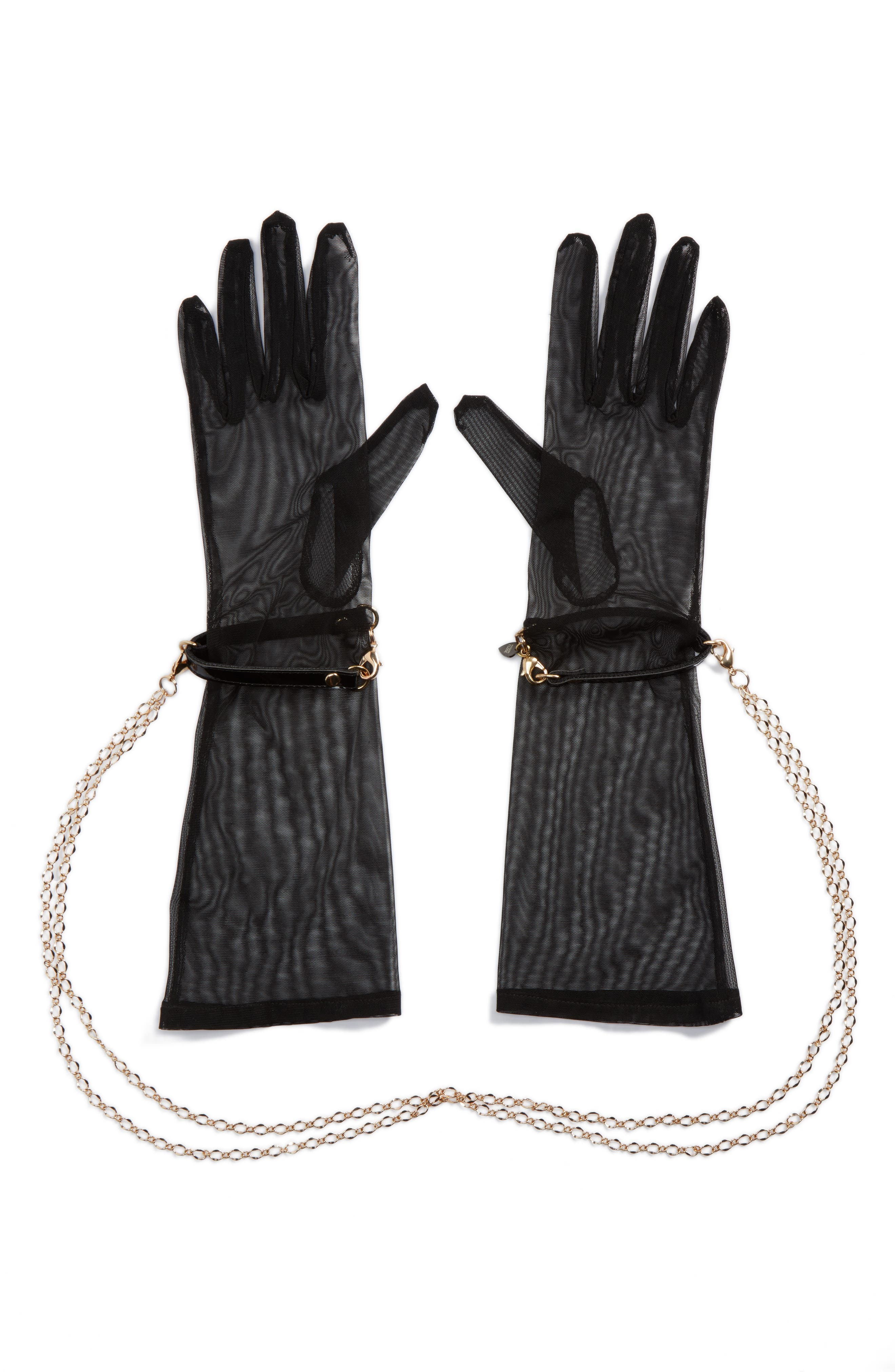 x Fräulein Kink Sheer Gloves,                             Main thumbnail 1, color,                             Black