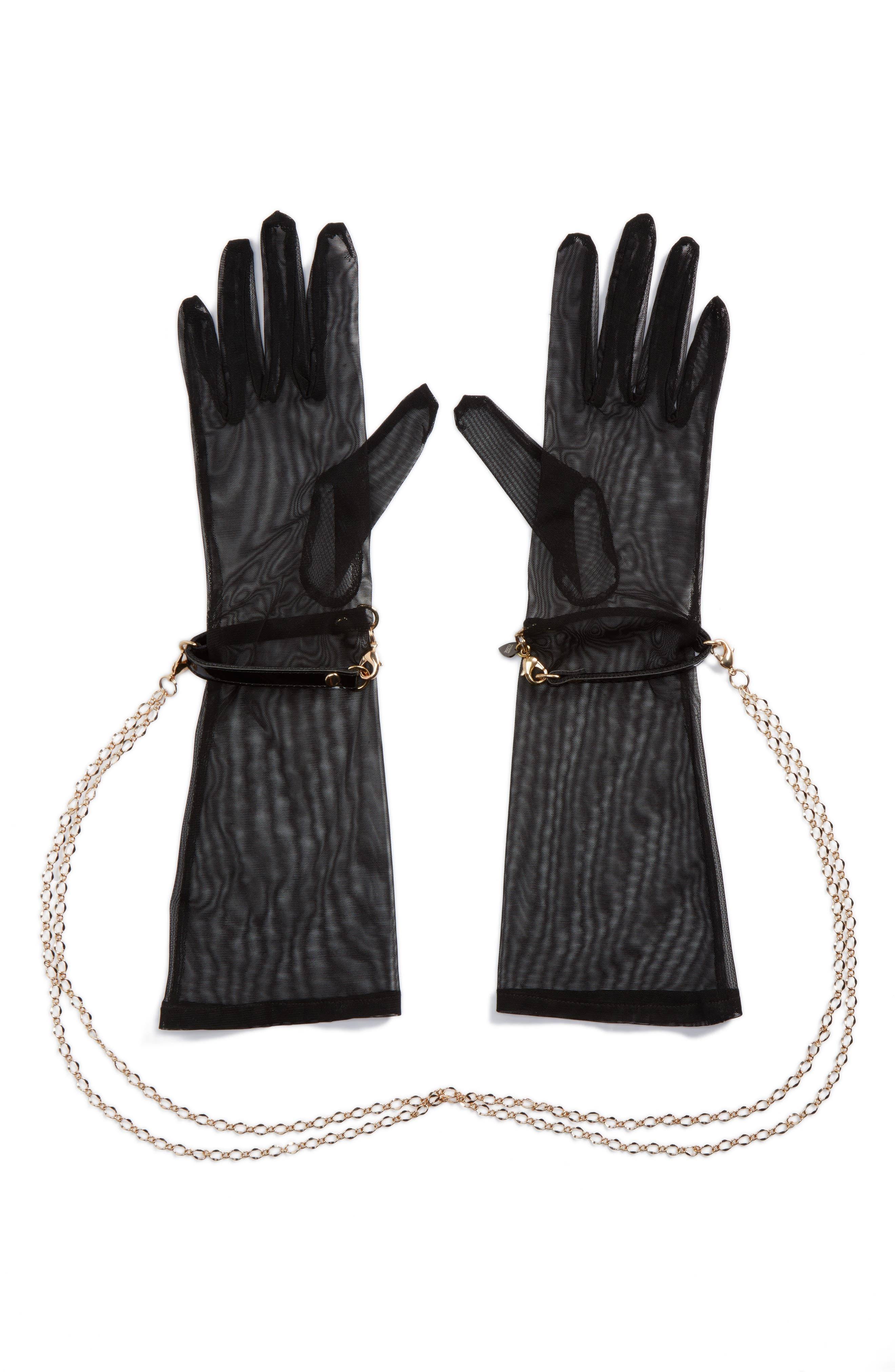 x Fräulein Kink Sheer Gloves,                         Main,                         color, Black