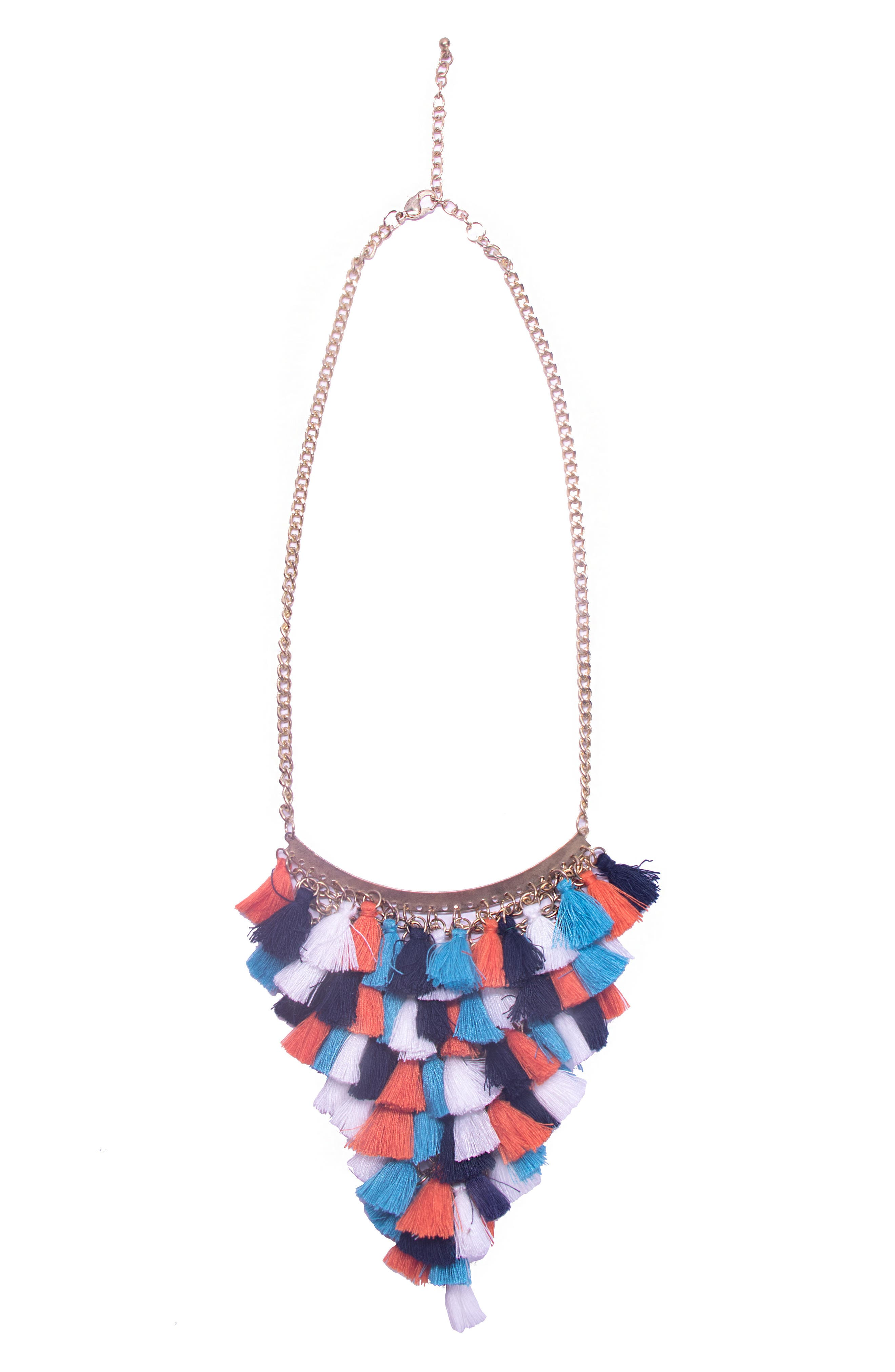 Main Image - Area Stars Saint Tropez Collection Tassel Statement Necklace