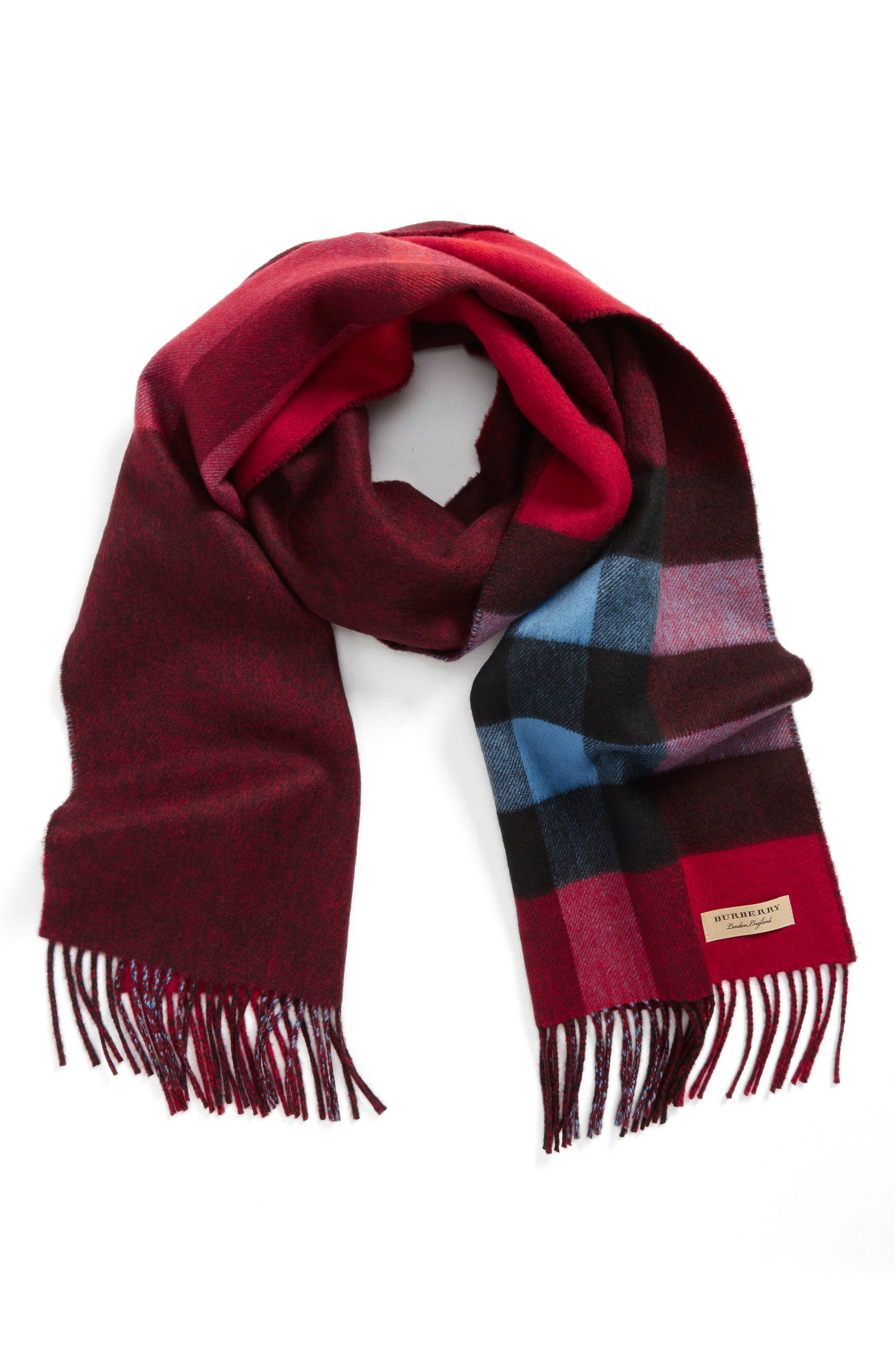 Alternate Image 1 Selected - Burberry Reversible Mega Check Cashmere Scarf