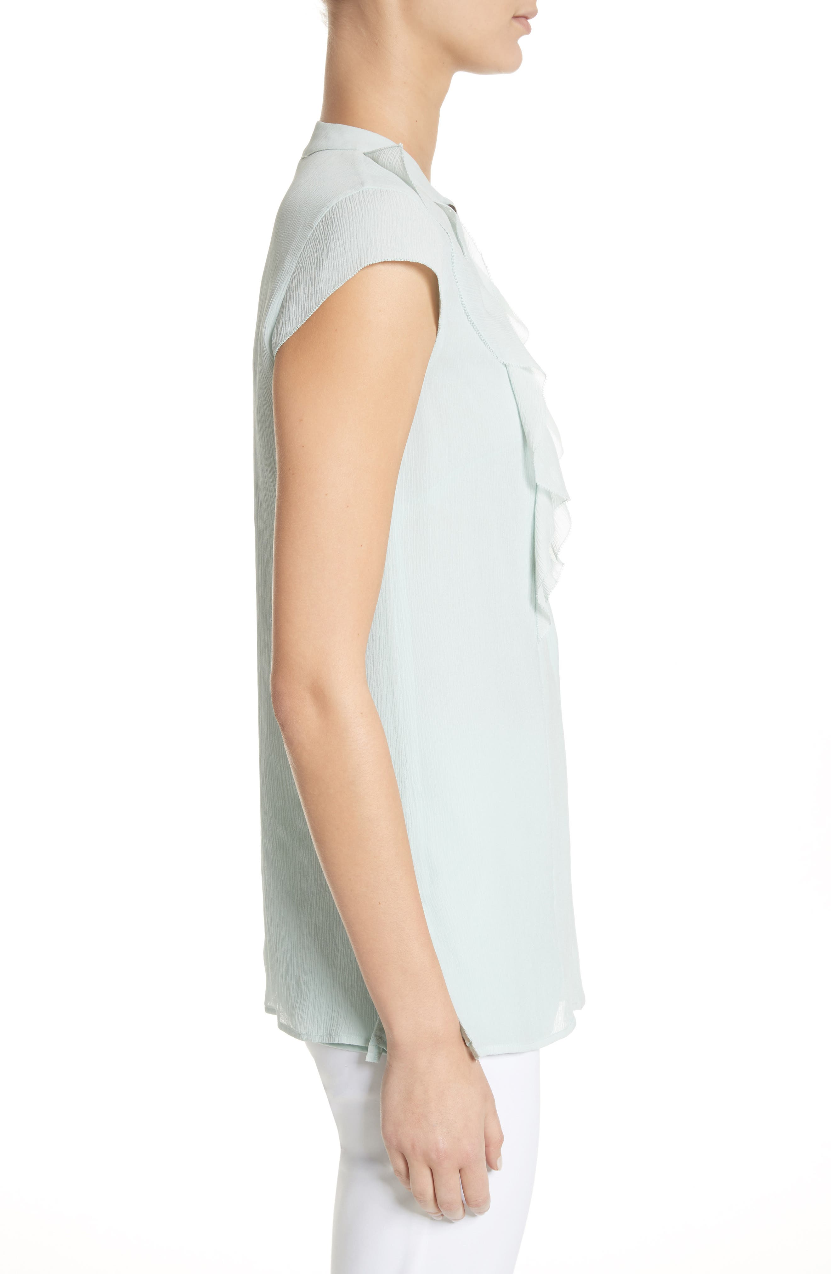 Alternate Image 3  - St. John Collection Crinkle Silk Georgette Blouse
