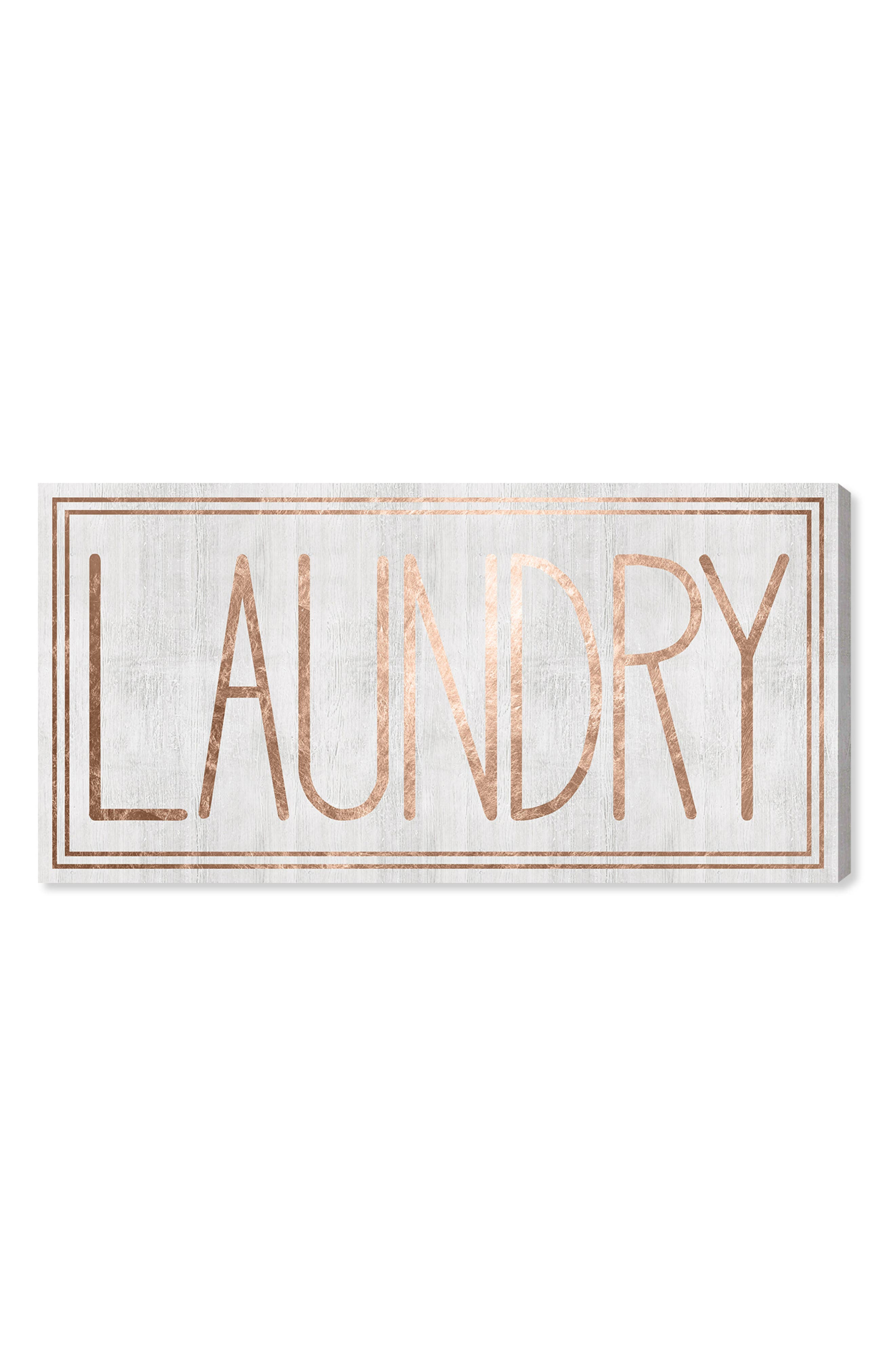 Laundry Canvas Wall Art,                             Main thumbnail 1, color,                             White