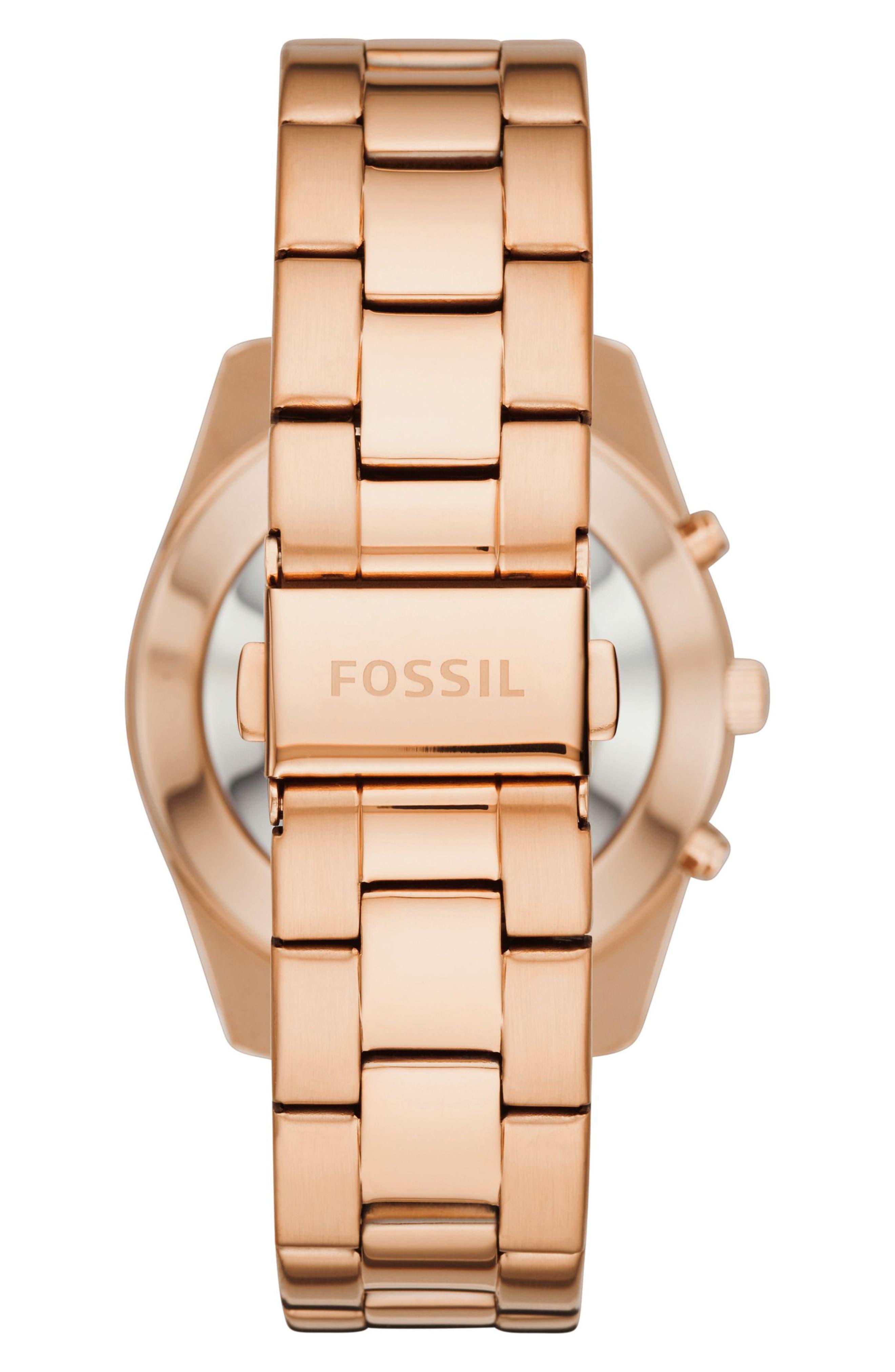 Scarlette Smart Bracelet Watch, 38mm,                             Alternate thumbnail 3, color,                             Rose Gold