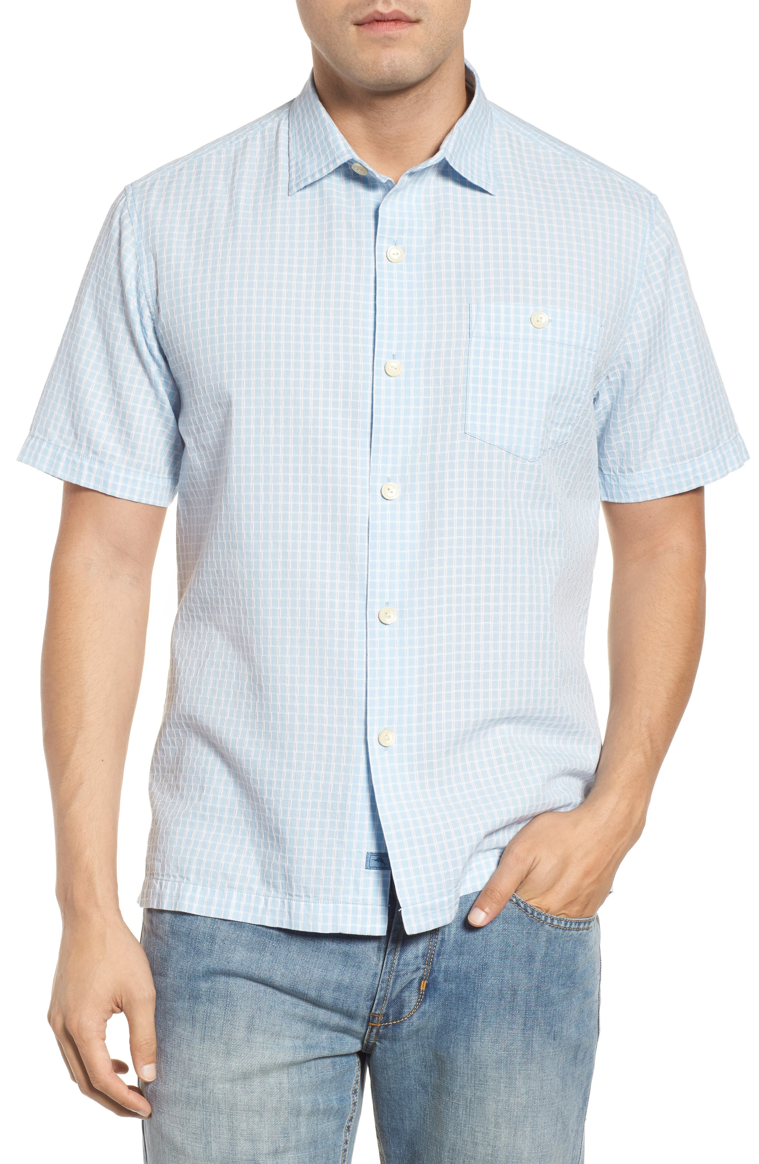 Alternate Image 1 Selected - Tommy Bahama Once in a Tile Regular Fit Sport Shirt