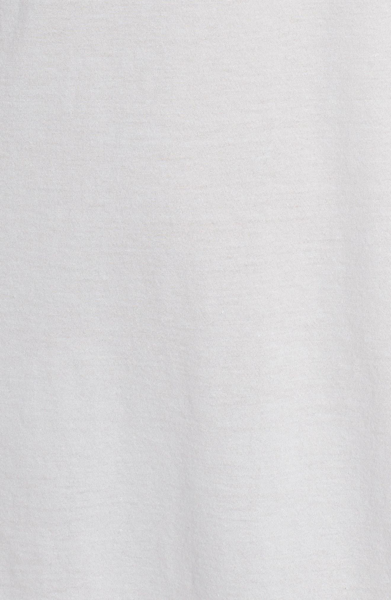 Cotton Sleep Shirt,                             Alternate thumbnail 5, color,                             Soft Gray
