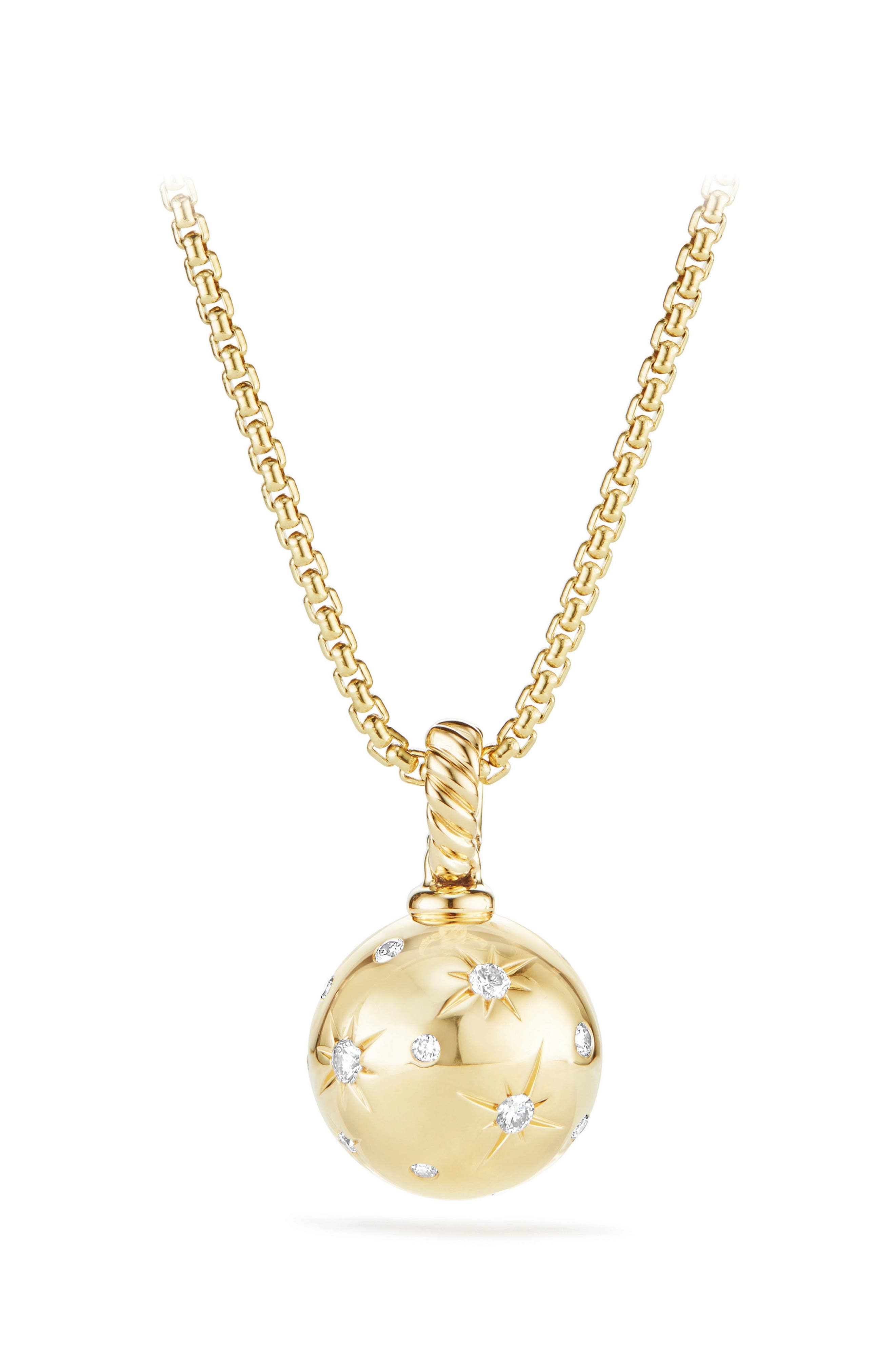 Alternate Image 1 Selected - David Yurman Solari Pendant with Diamonds in 18K Gold