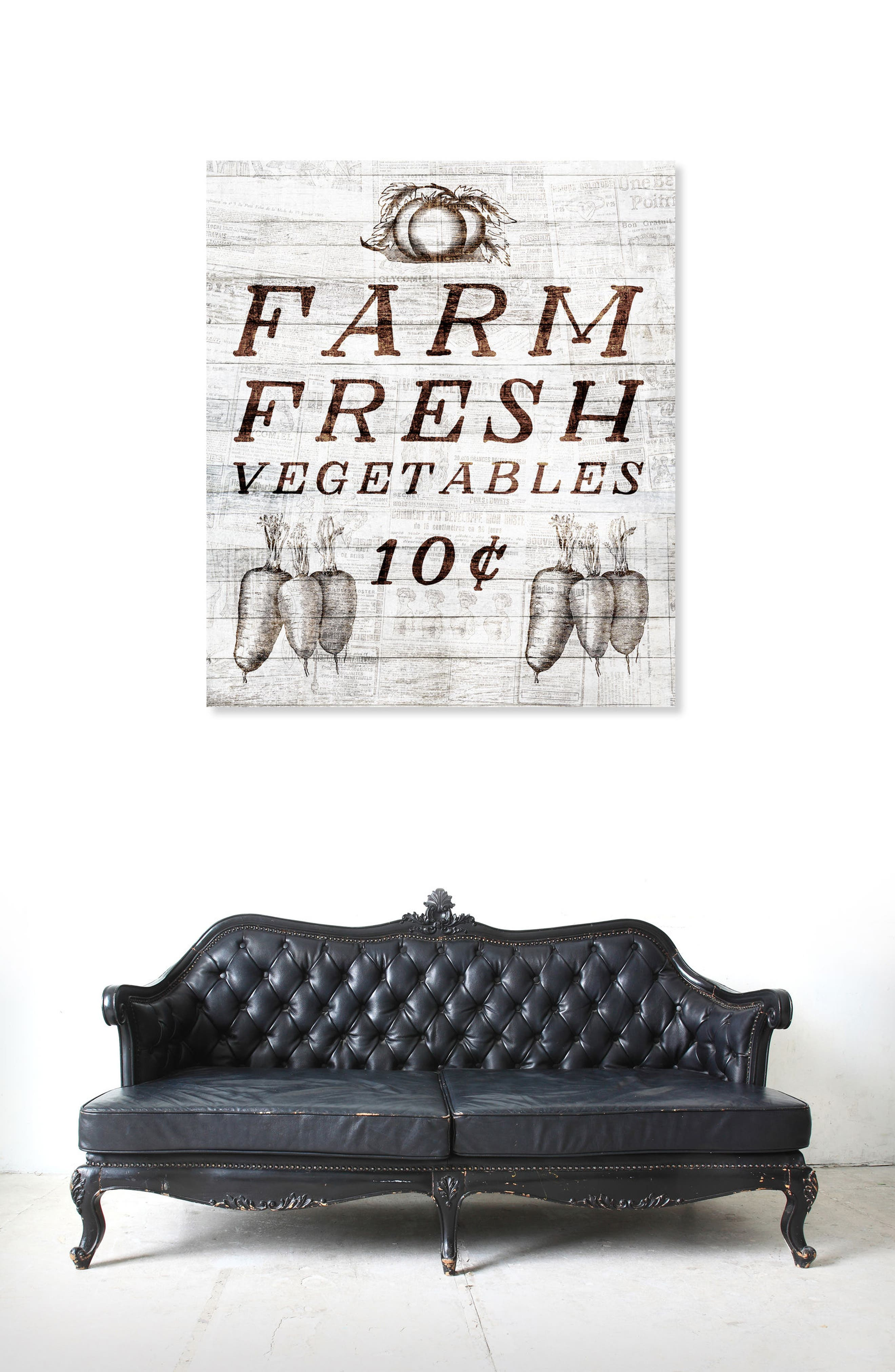 Farm Fresh Vegetables Canvas Wall Art,                             Alternate thumbnail 2, color,                             Beige