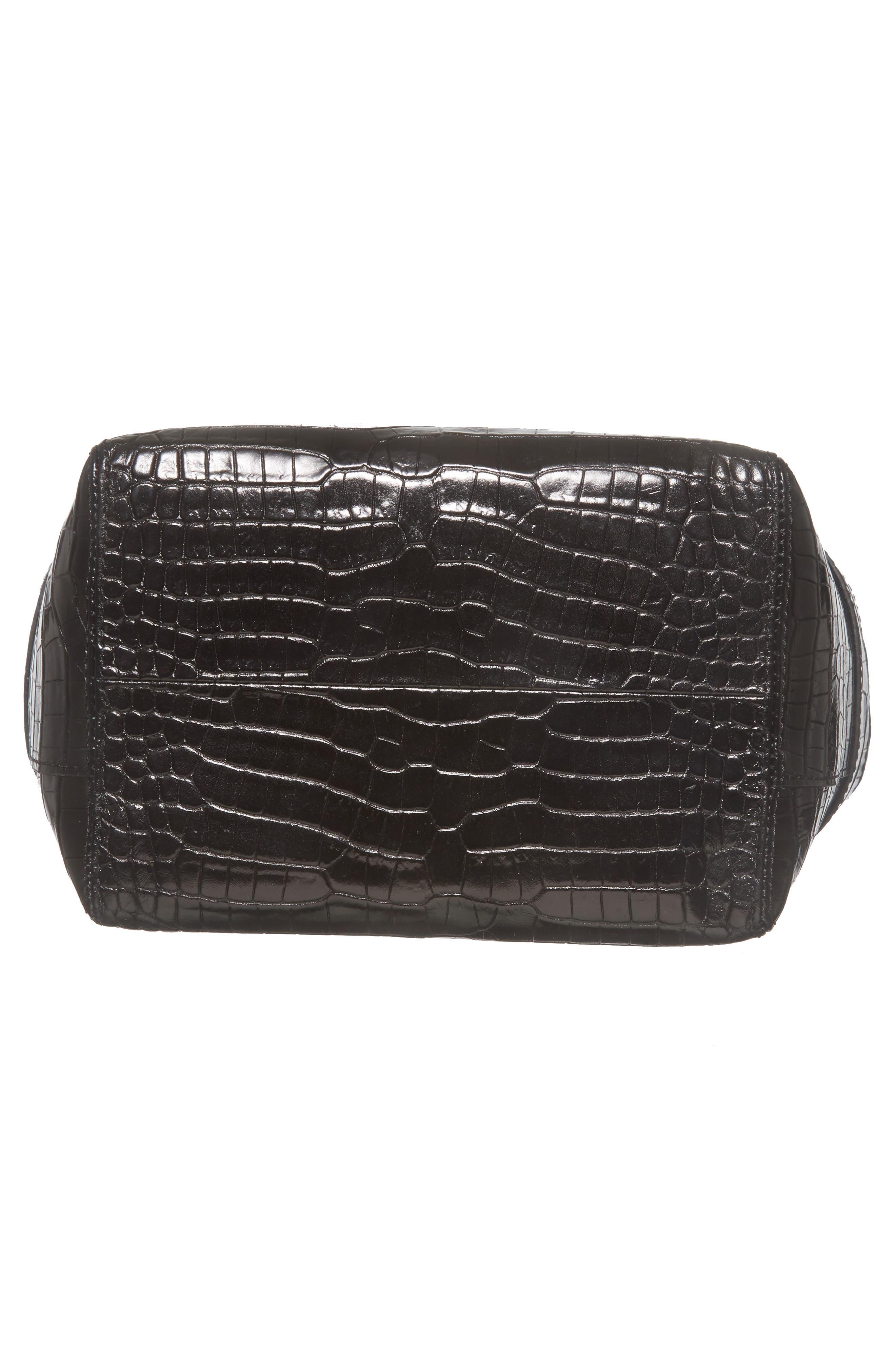 Keely Leather Crossbody Bag,                             Alternate thumbnail 6, color,                             Black