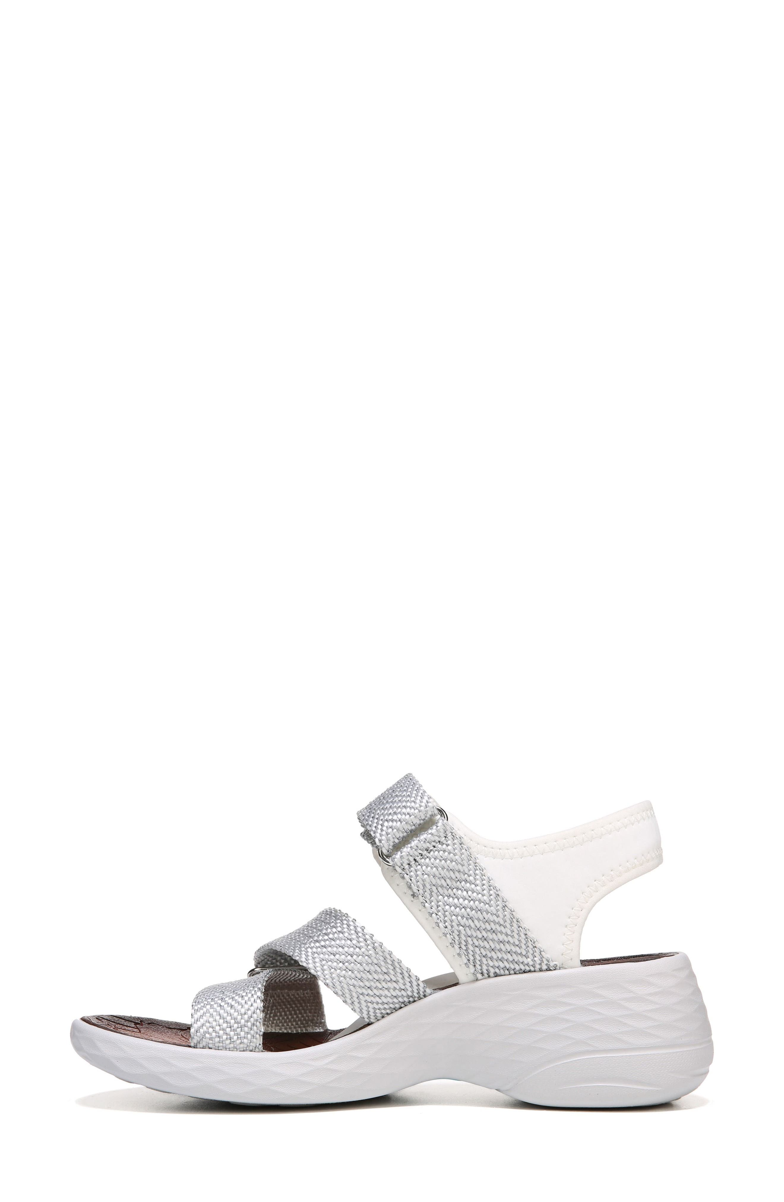 Jive Sandal,                             Alternate thumbnail 3, color,                             White Fabric