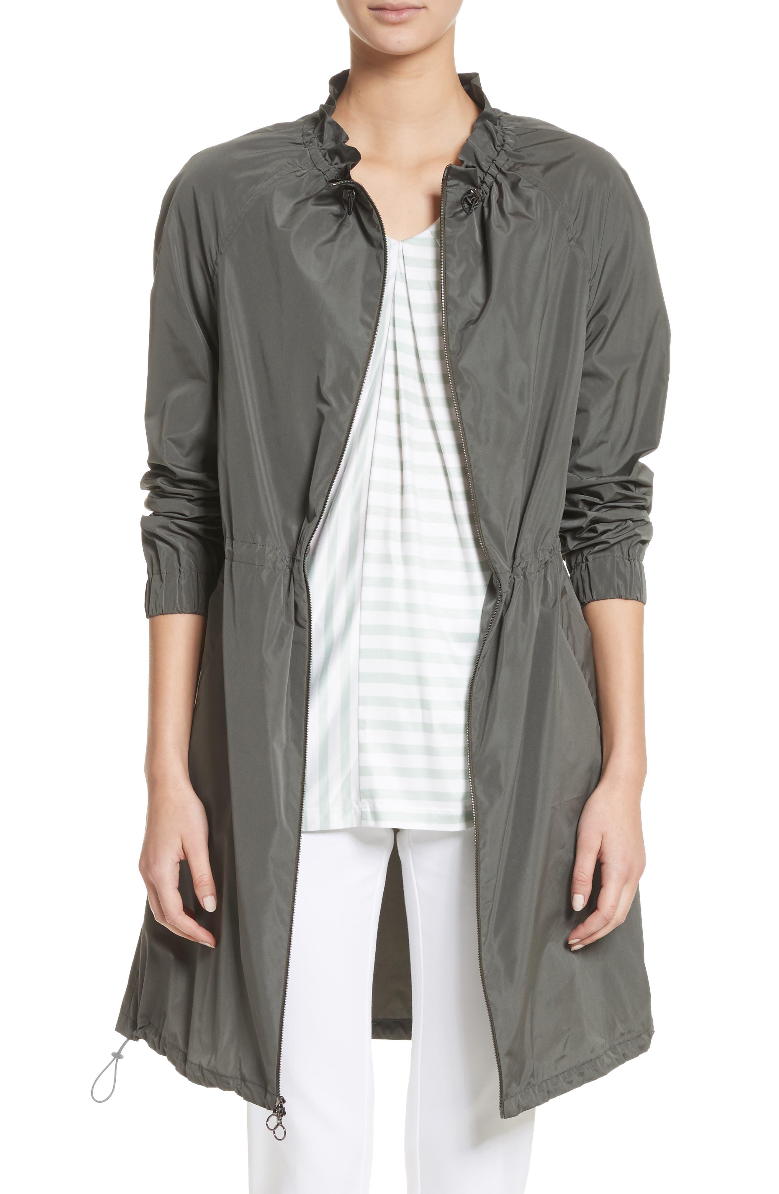 Lightweight Taffeta Jacket,                         Main,                         color, Dark Mint