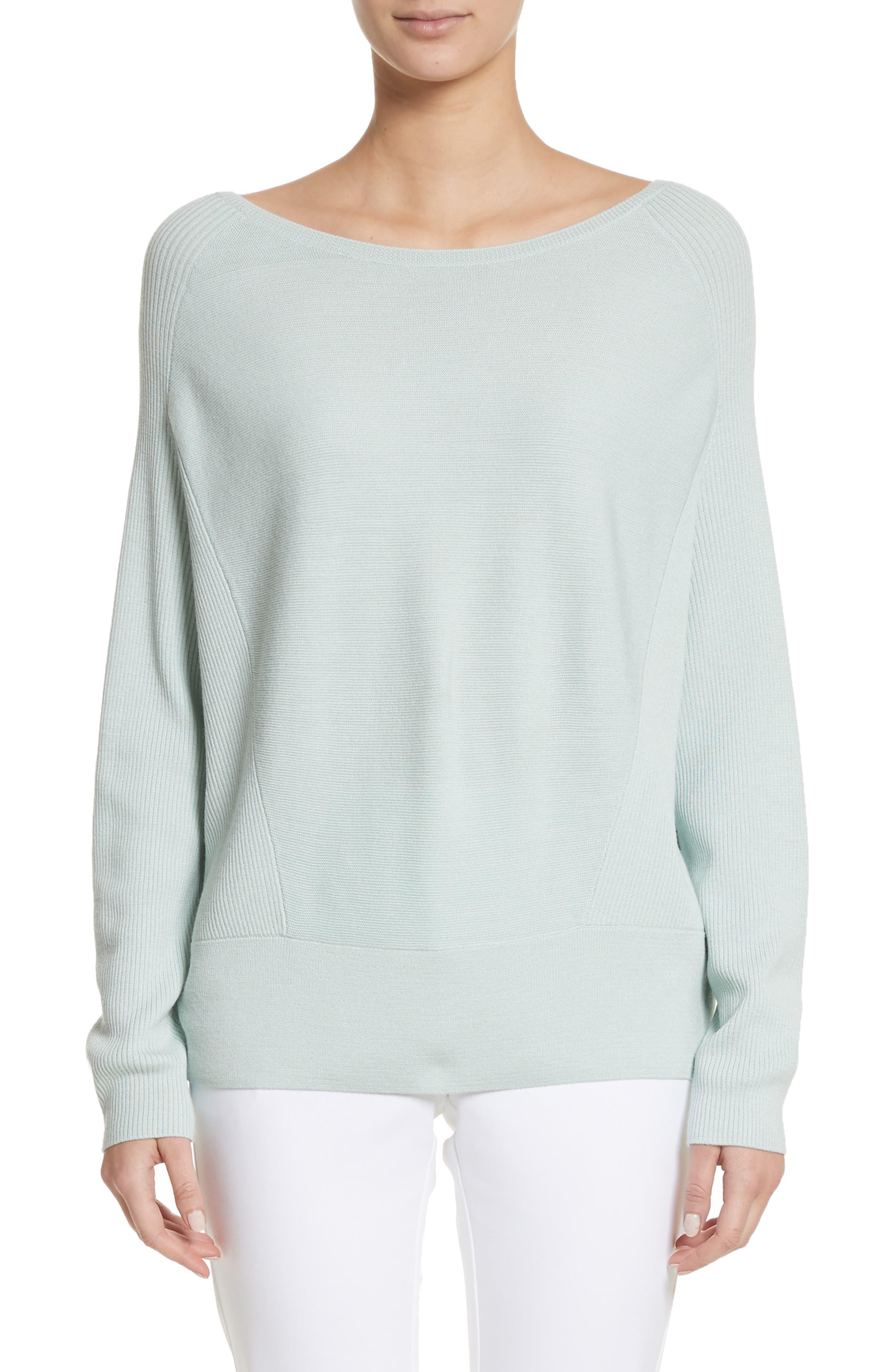 Links Rib Knit Sweater,                         Main,                         color, Mint