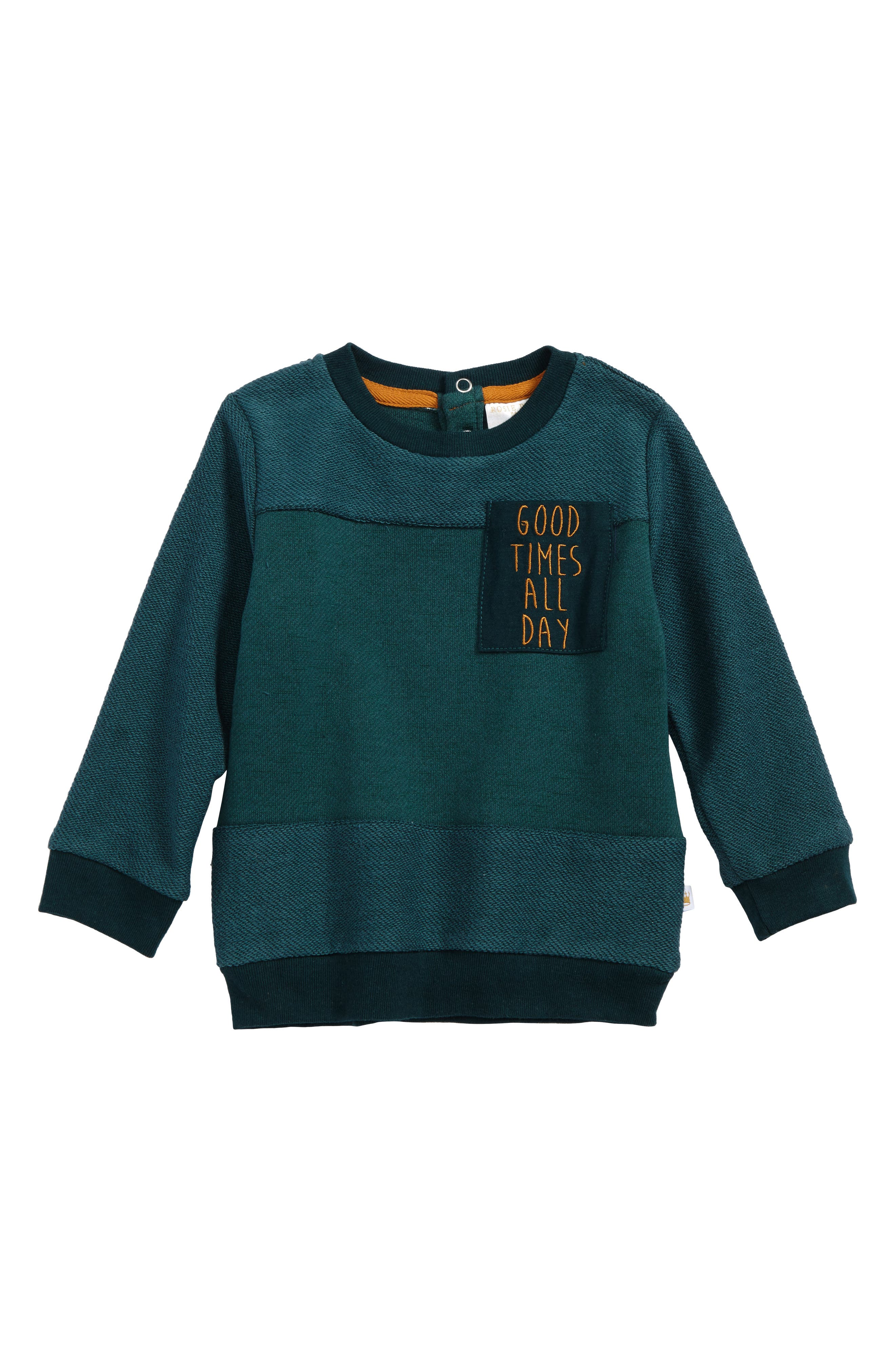 Rosie Pope Good Times All Day Pullover Sweatshirt (Baby Boys)