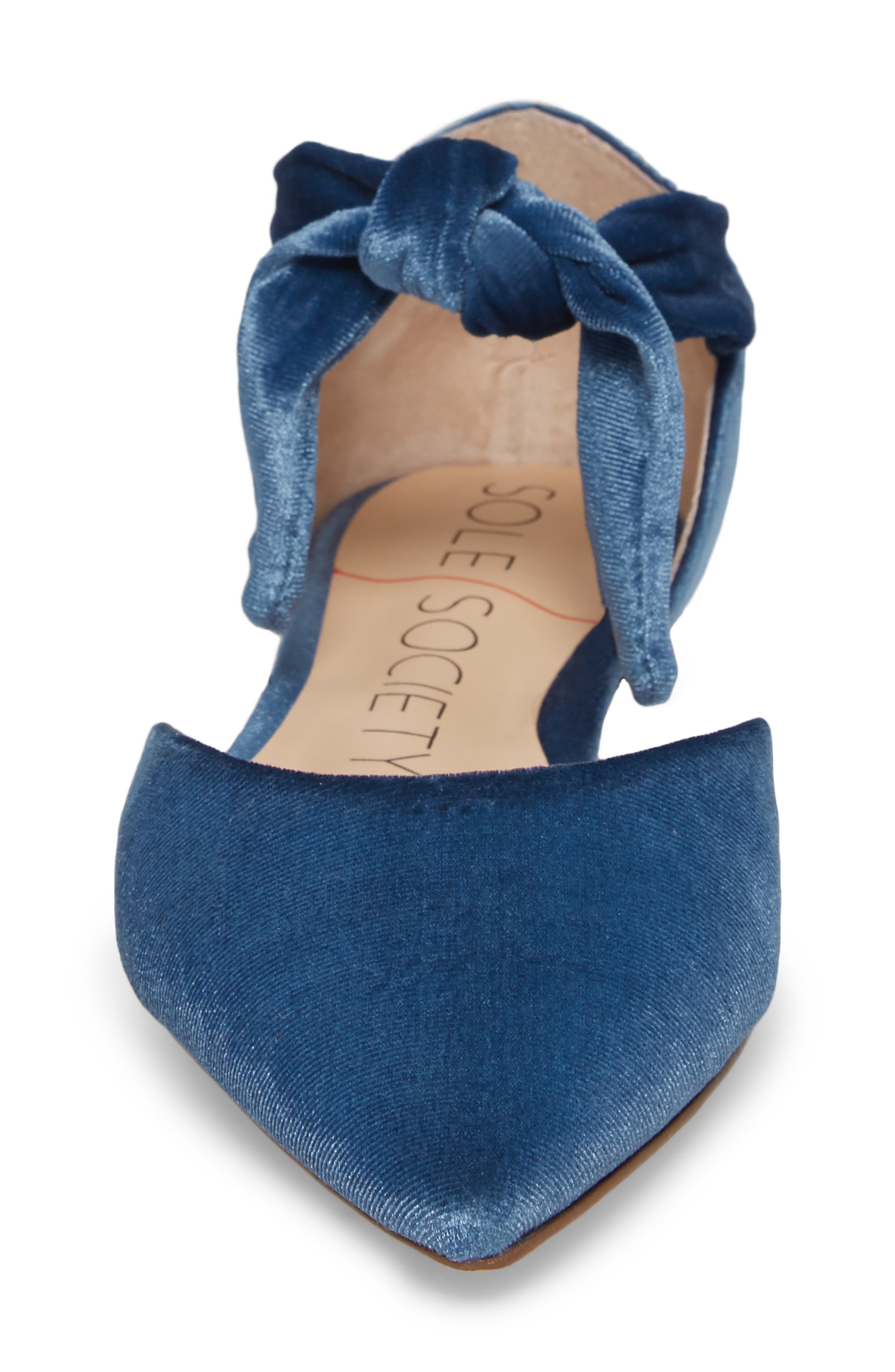 Alternate Image 4  - Sole Society Teena d'Orsay Flat with Ties (Women)