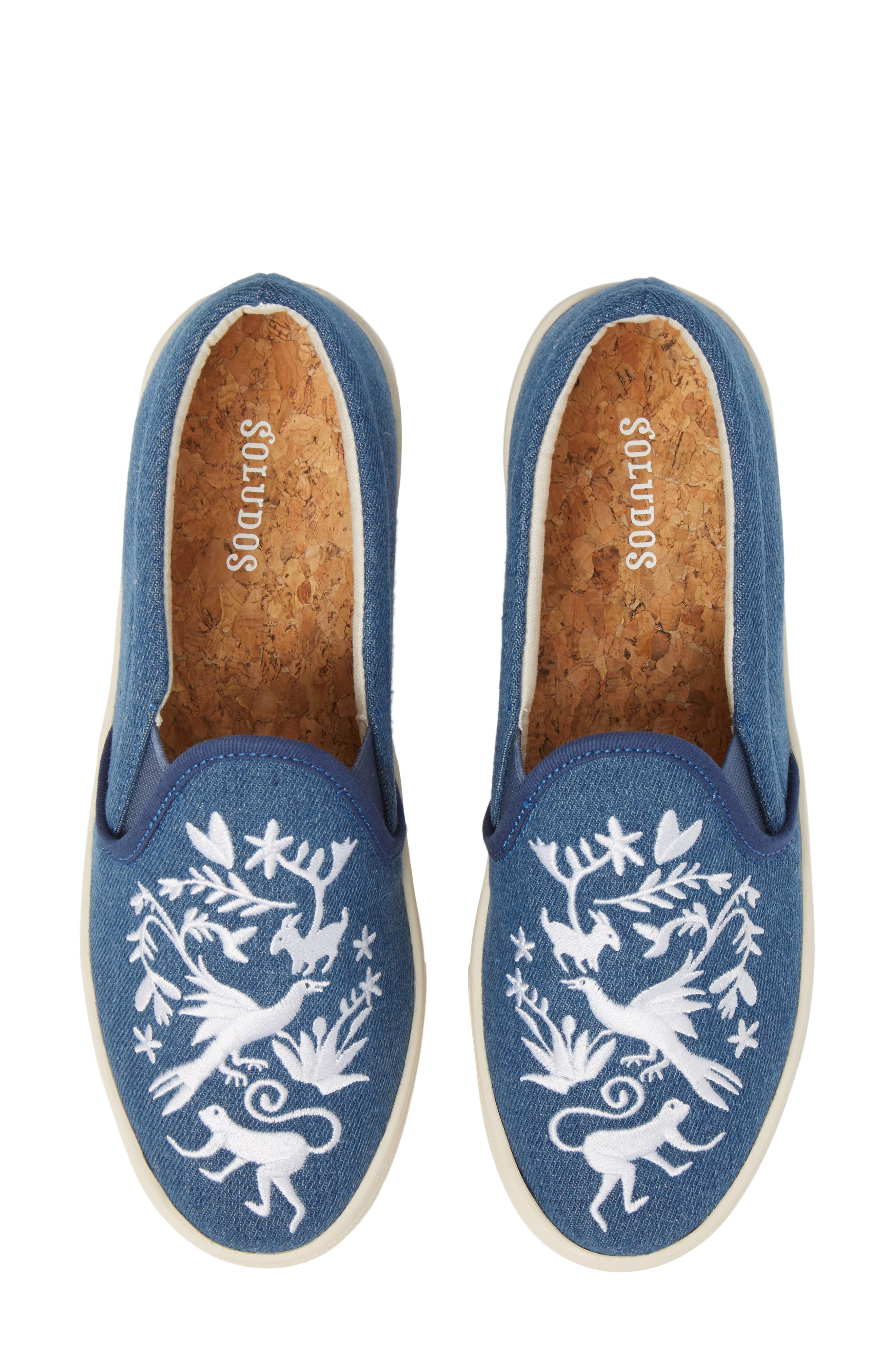 Otomi Slip-On Sneaker,                             Main thumbnail 1, color,                             Denim Fabric