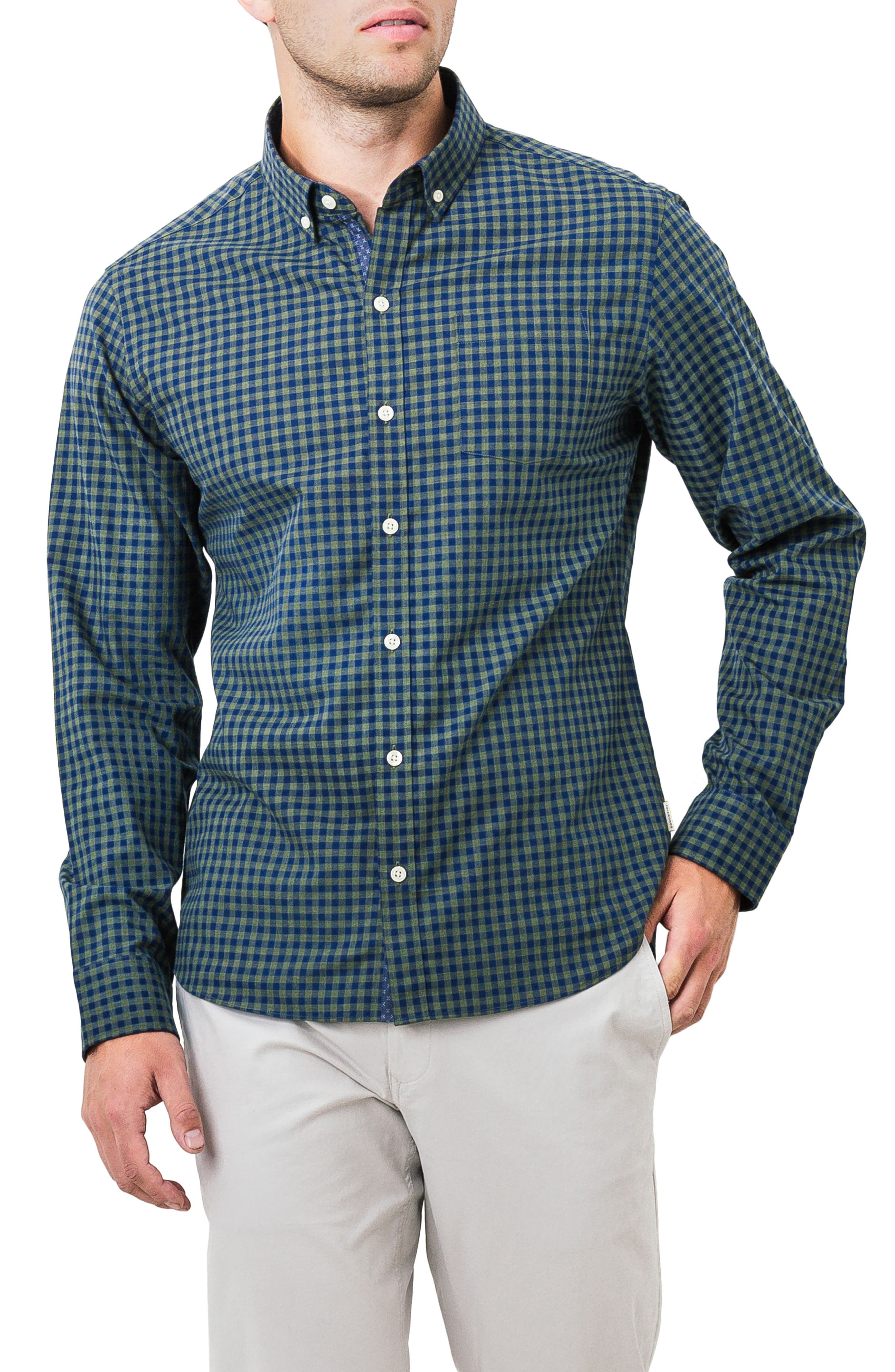 The Town Sport Shirt,                         Main,                         color, Olive