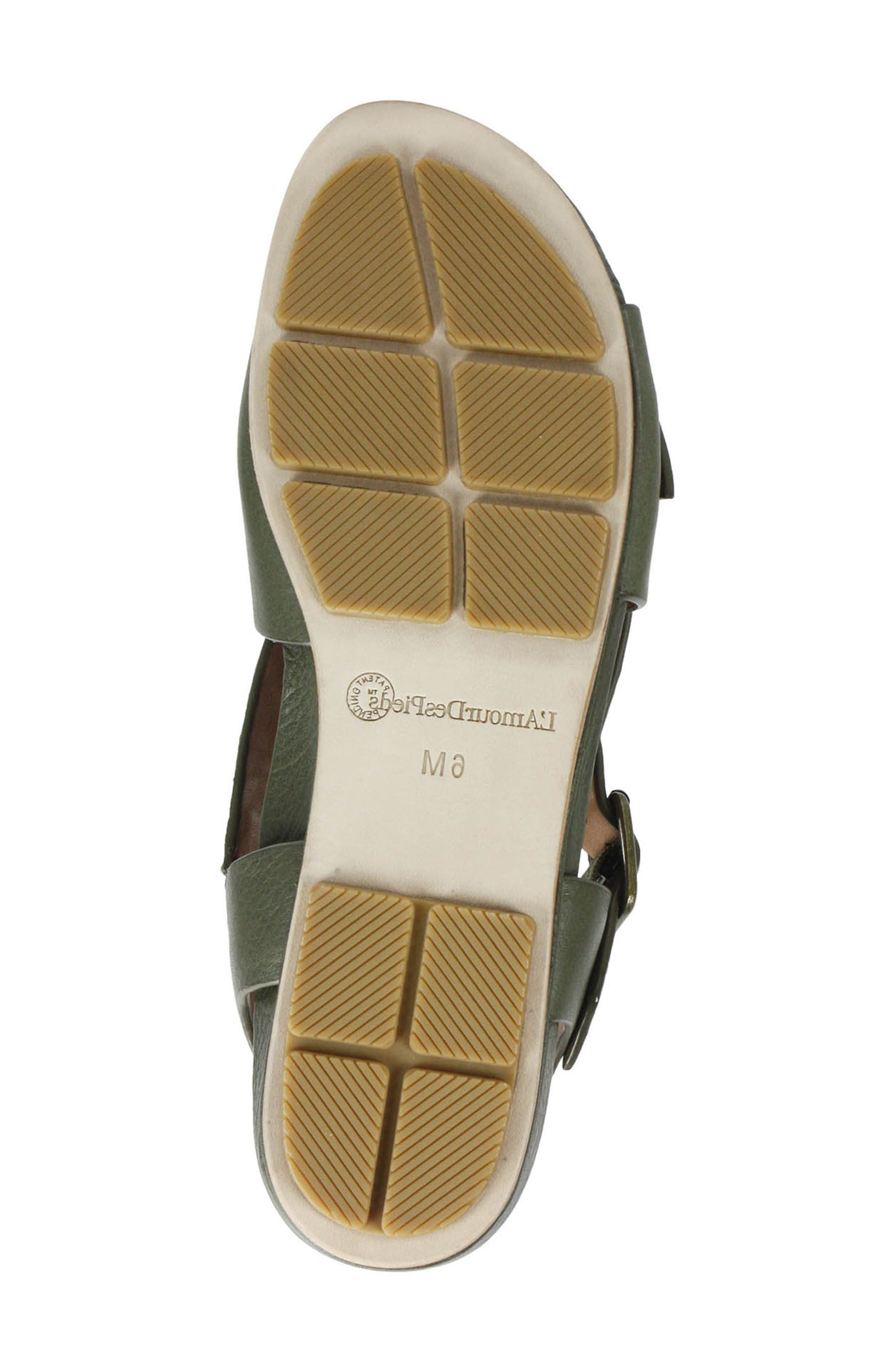 Dordogne Sandal,                             Alternate thumbnail 6, color,                             Olive Leather