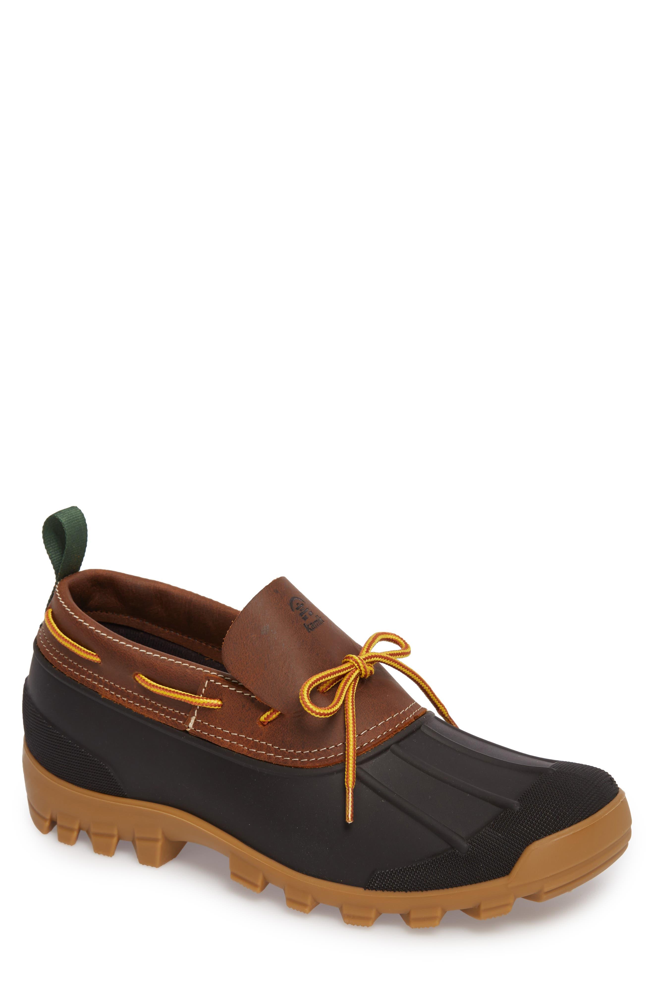 Yukon Short Boot,                             Main thumbnail 1, color,                             Dark Brown Leather