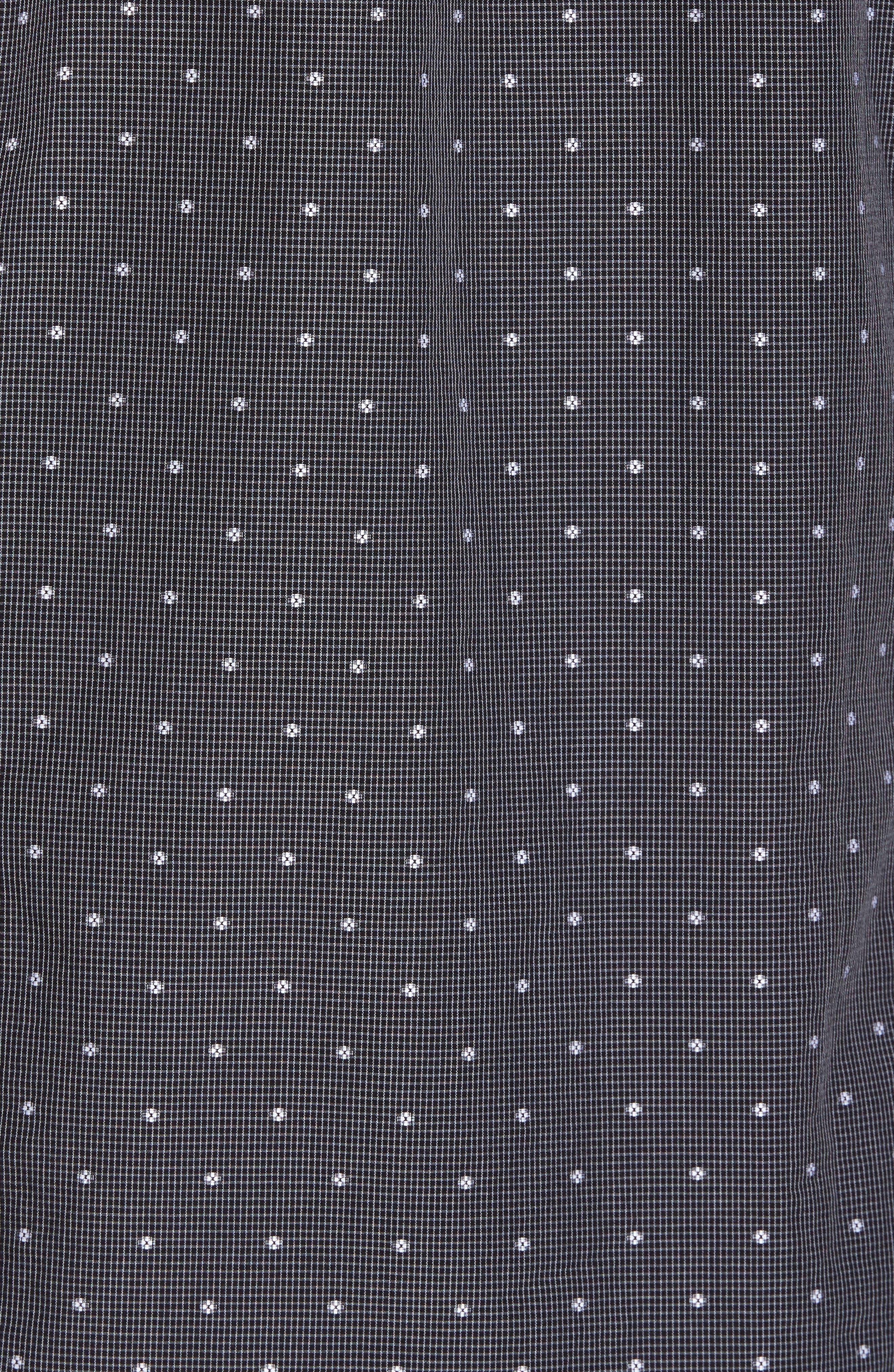 Ridley Slim Fit Dot Sport Shirt,                             Alternate thumbnail 5, color,                             Black