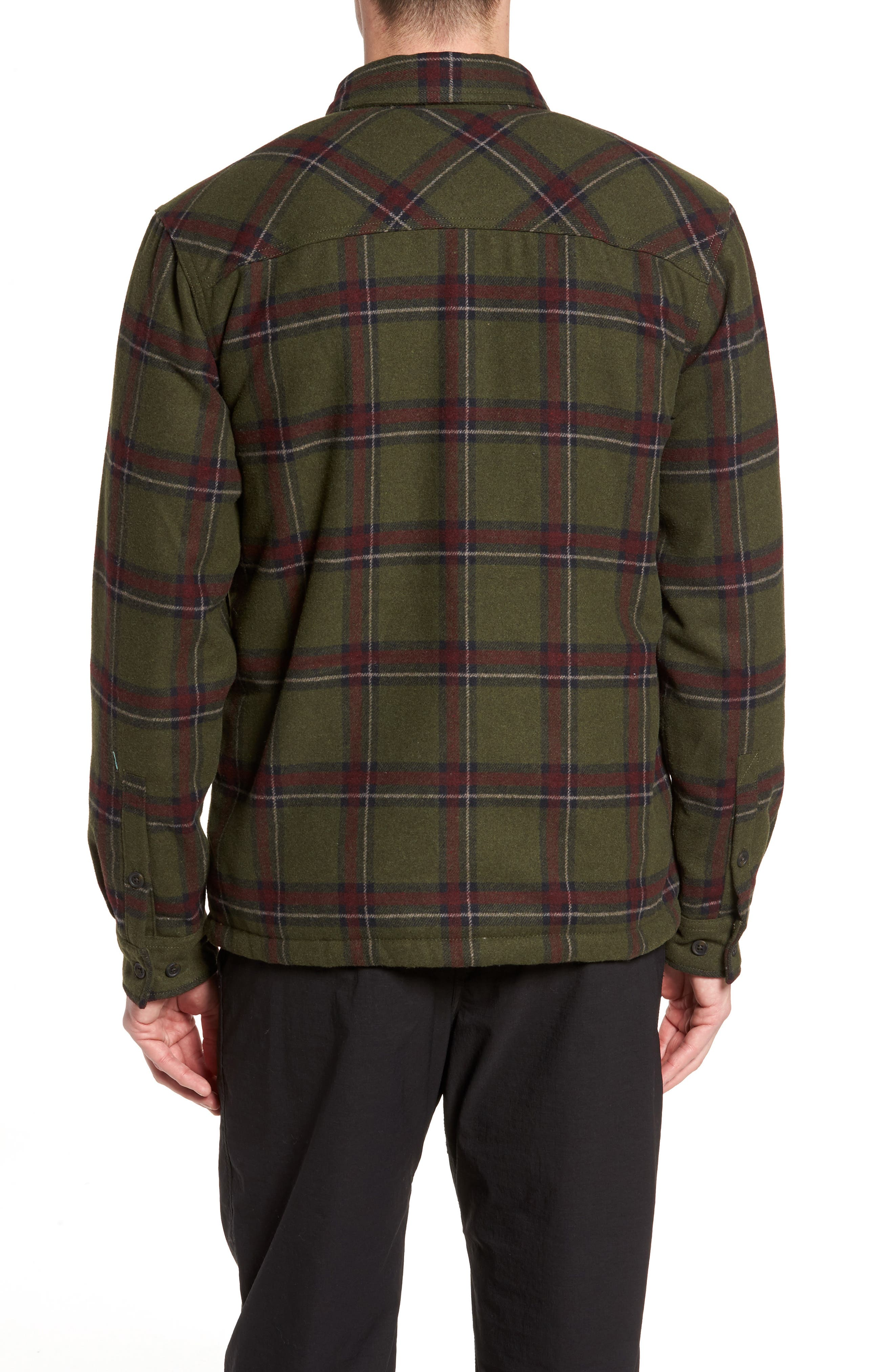 Tough Guy Plush Lined Flannel Shirt Jacket,                             Alternate thumbnail 2, color,                             Olive