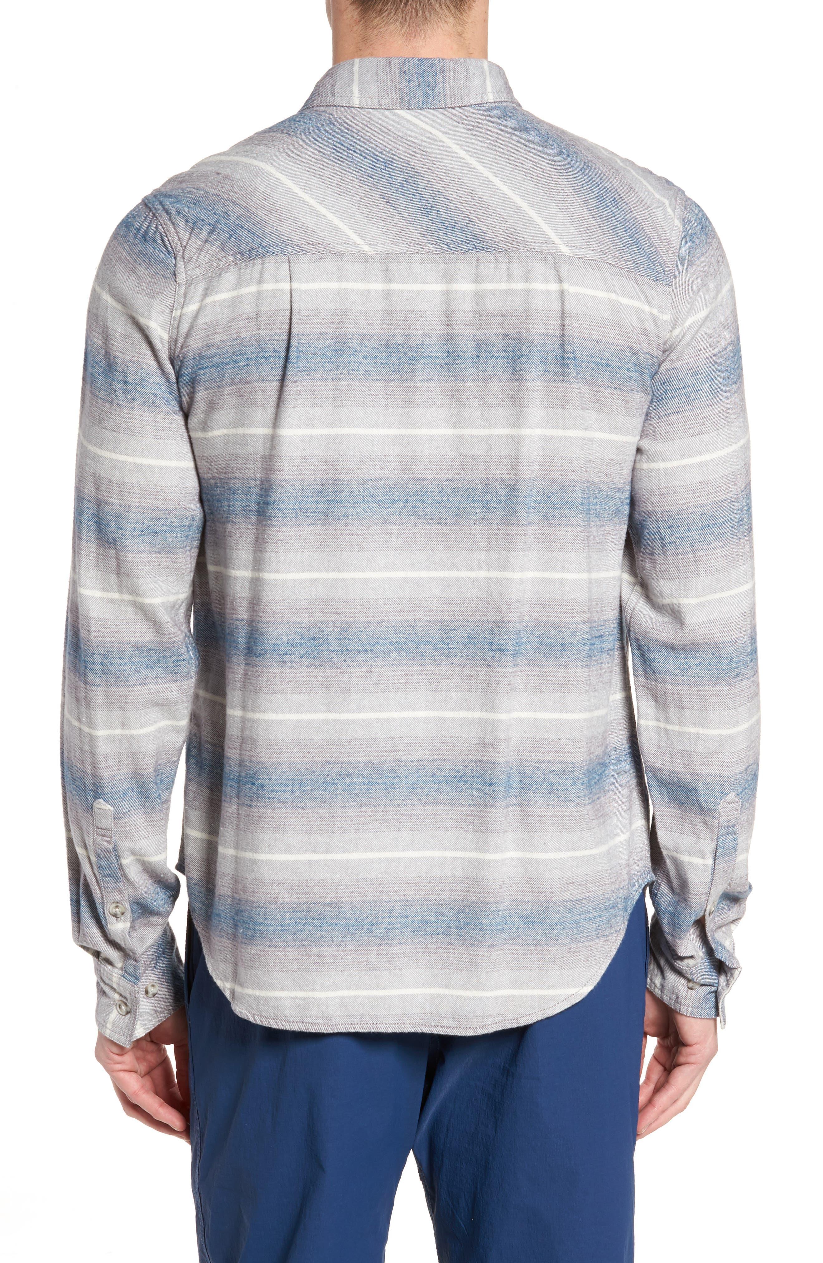 General Purpose Regular Fit Stripe Sport Shirt,                             Alternate thumbnail 2, color,                             Blue Abyss