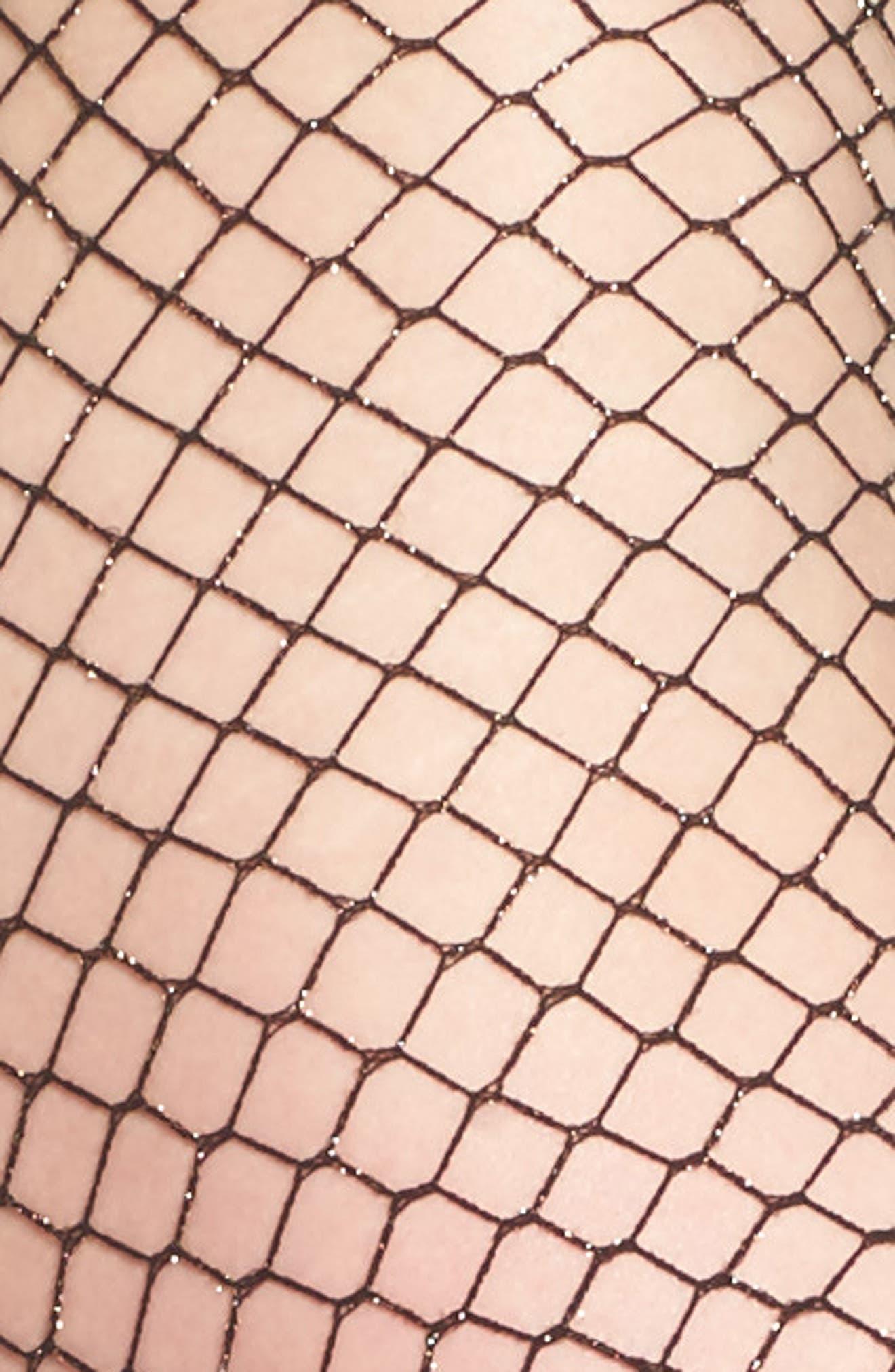 Alternate Image 2  - Nordstrom Sparkle Fishnet Tights