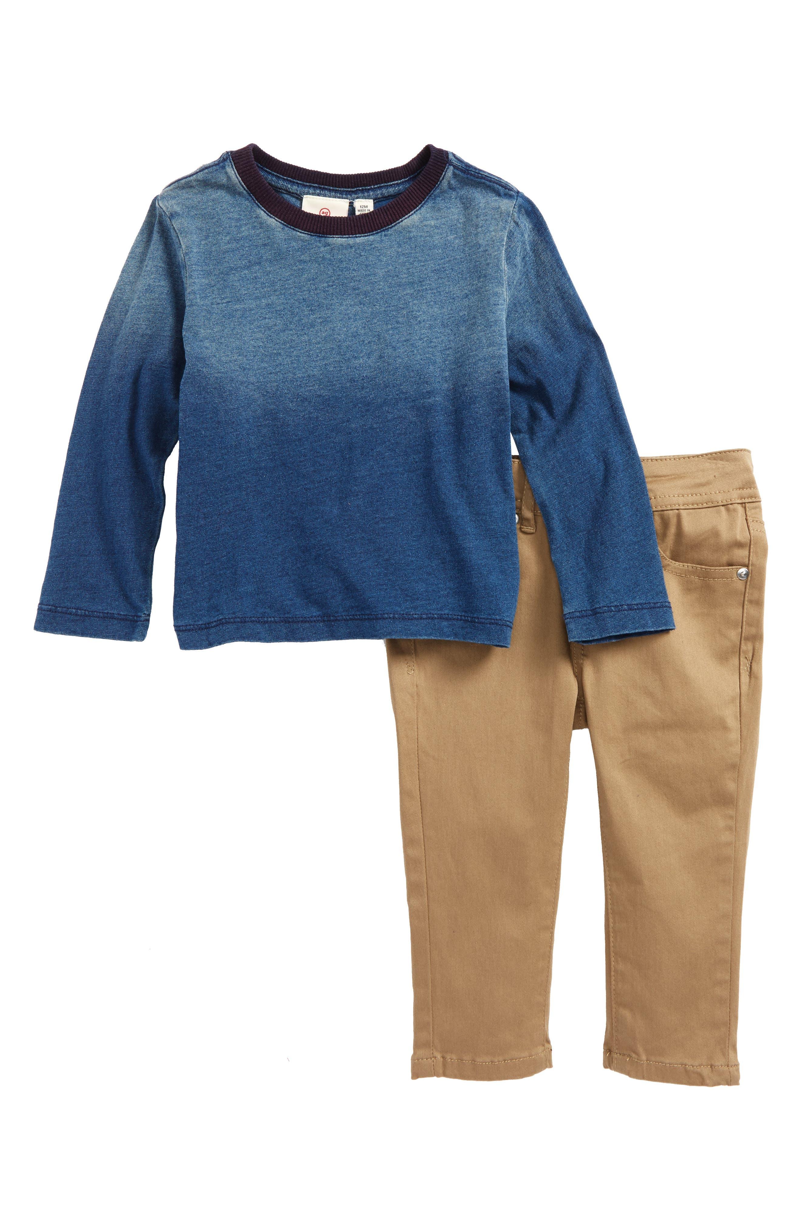 T-Shirt & Pants Set,                         Main,                         color, Castle Wall
