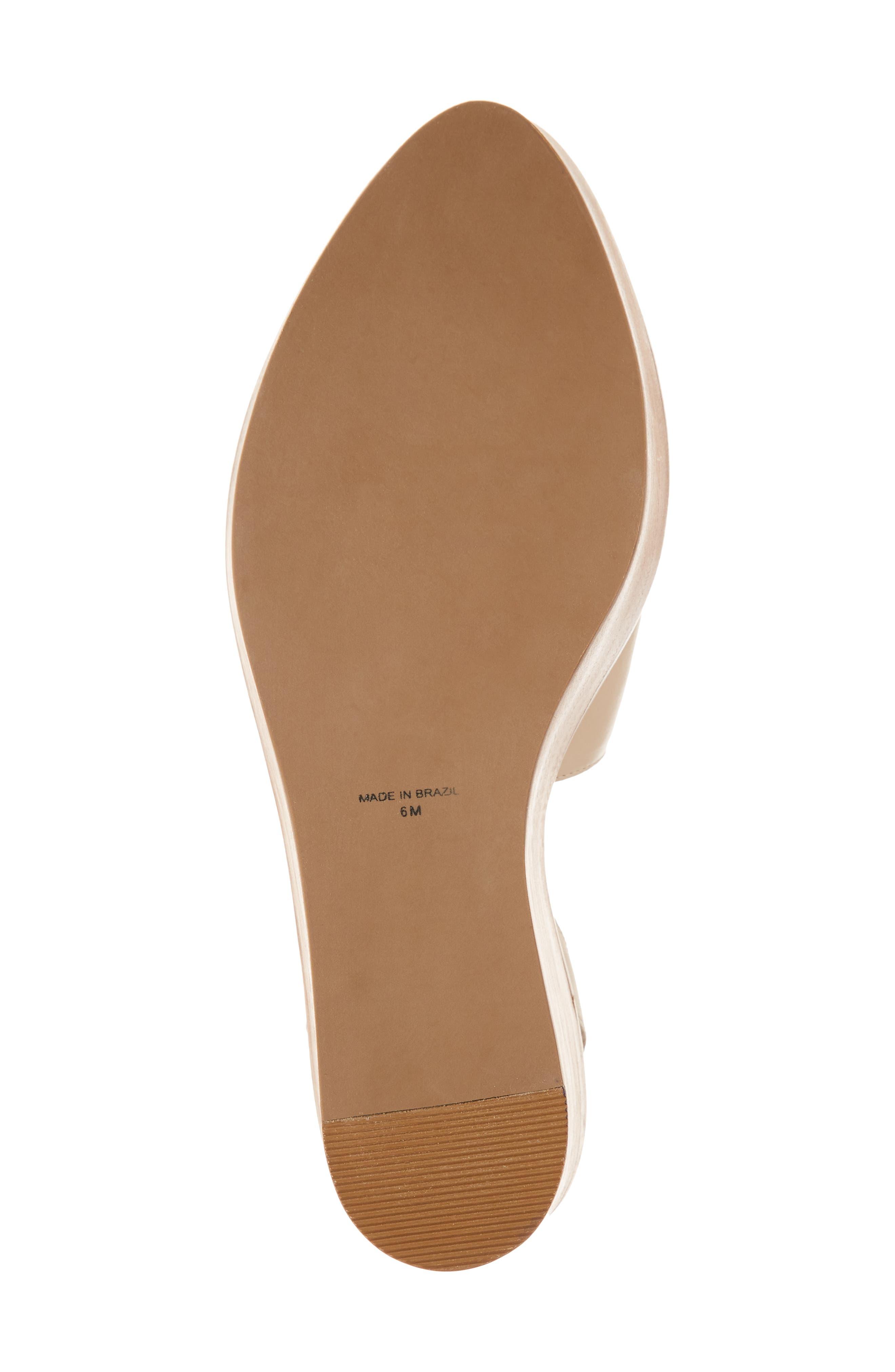 Eyals Slingback Platform Wedge Sandal,                             Alternate thumbnail 6, color,                             Natural Leather
