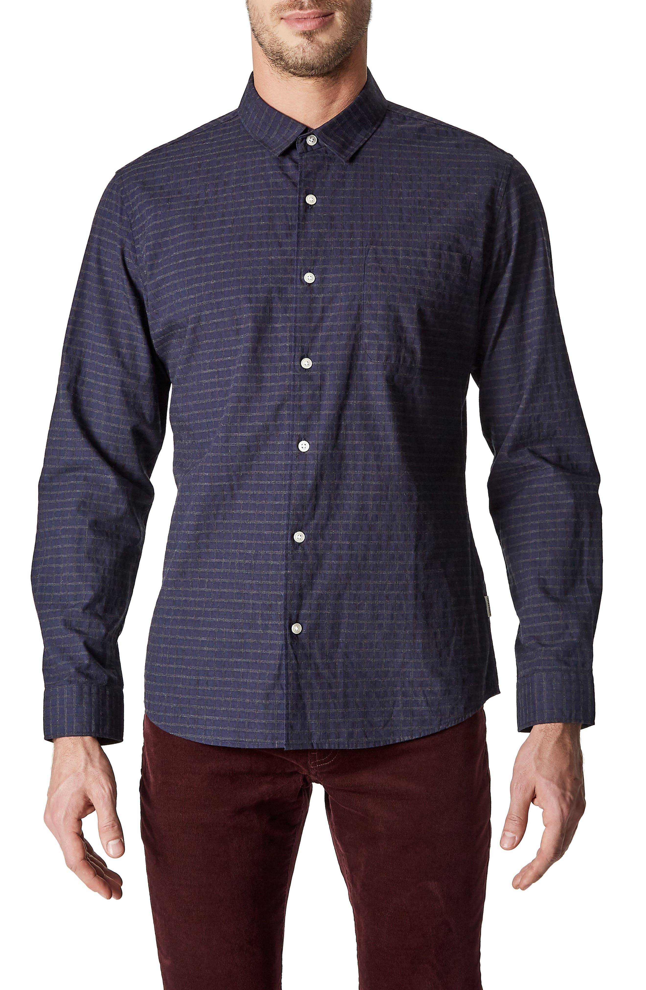 Midnight in Paris Sport Shirt,                             Main thumbnail 1, color,                             Midnight
