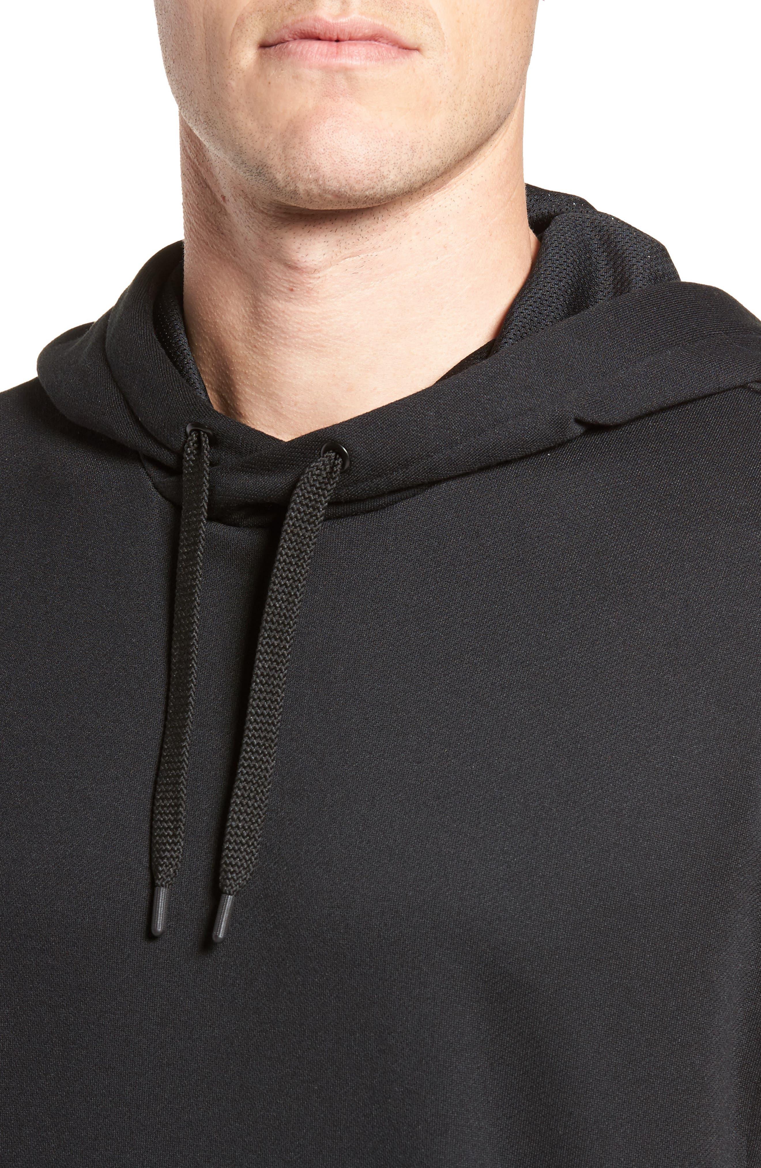 Training Dry Top PX Sleeveless Hoodie,                             Alternate thumbnail 4, color,                             Black/ Black/ White