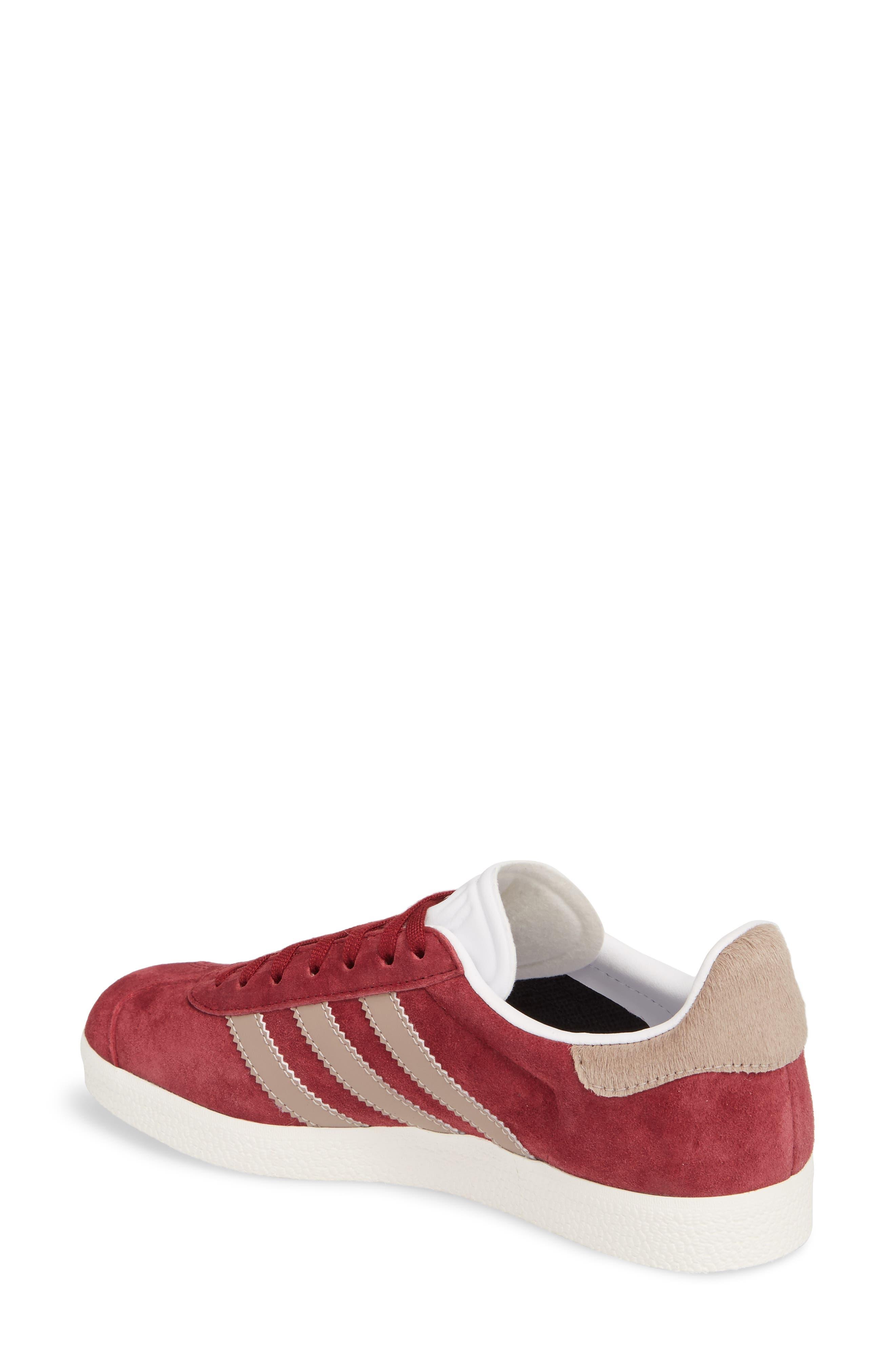Gazelle Sneaker,                             Alternate thumbnail 2, color,                             Burgundy/ Vapour Grey/ White