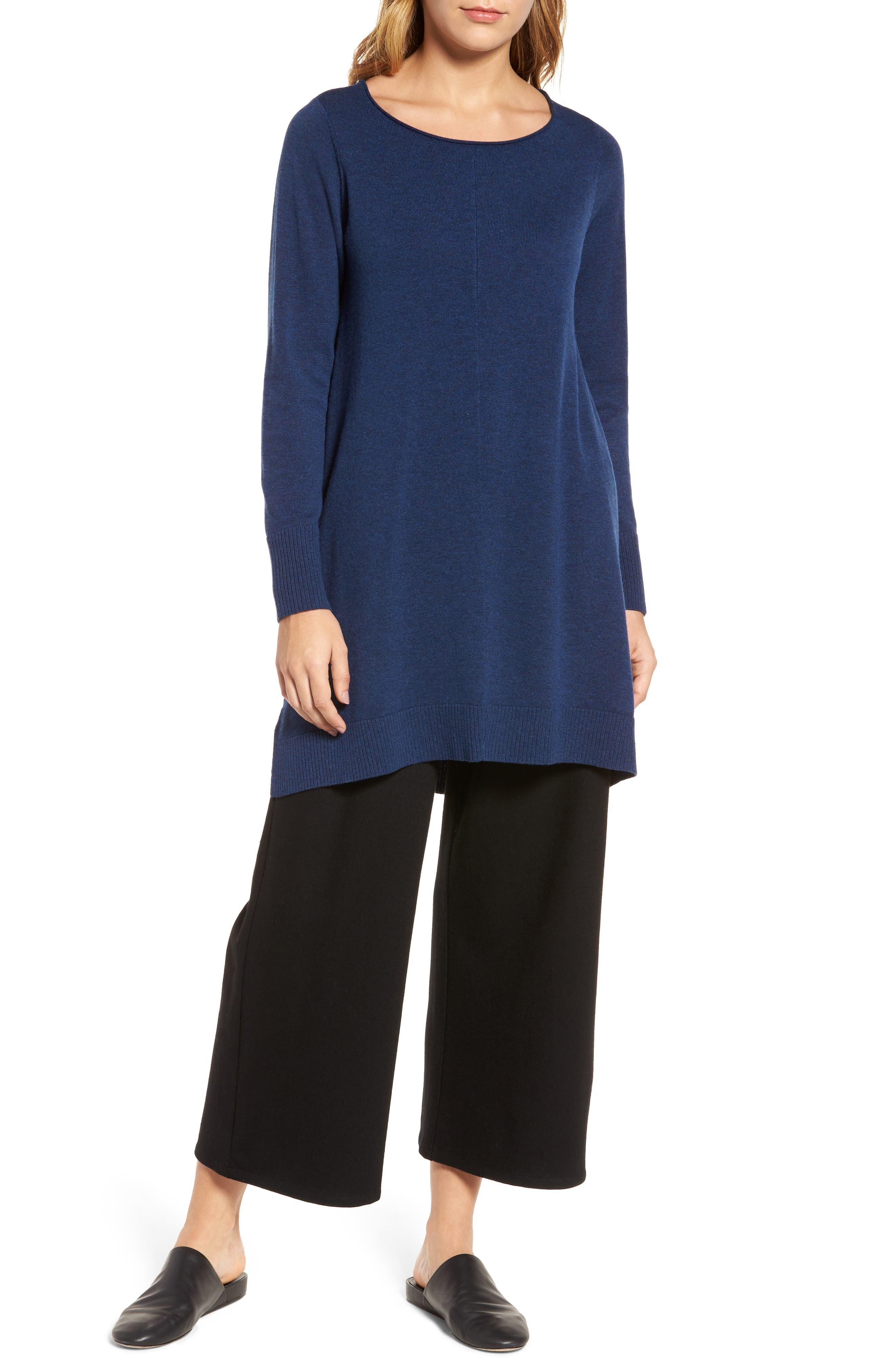 Layering Dress,                         Main,                         color, Blue Bonnet