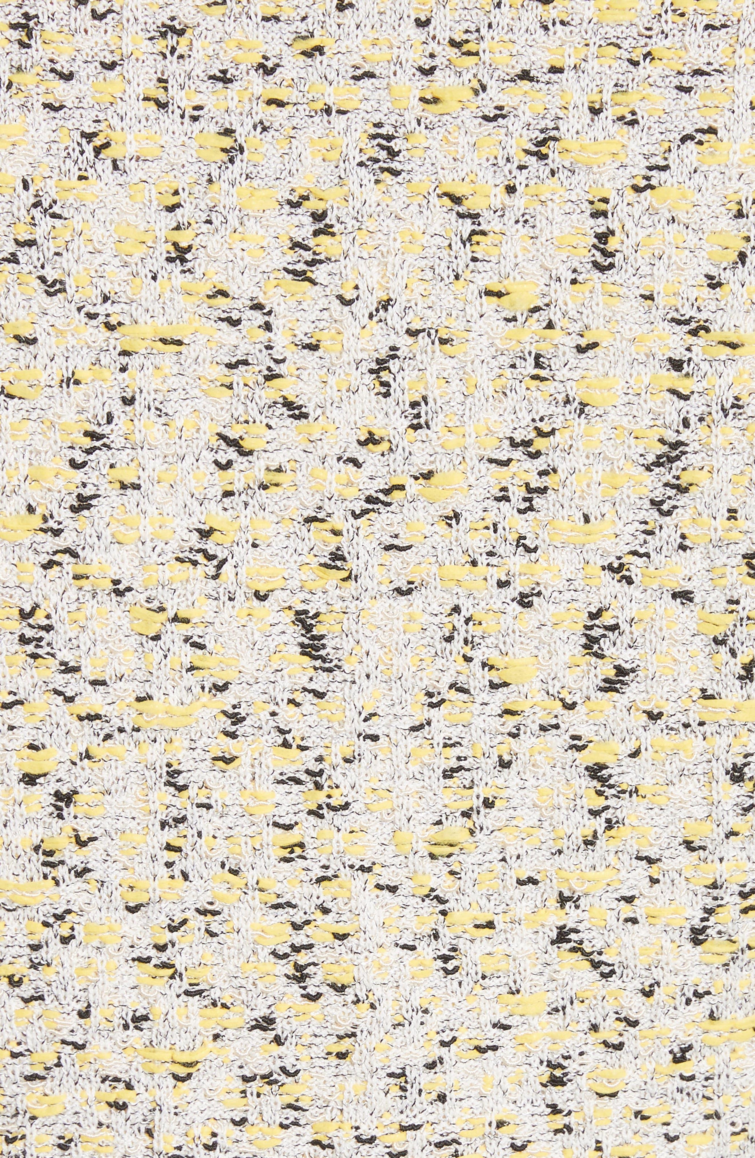 Romee Tweed Knit Blazer,                             Alternate thumbnail 6, color,                             Citron Multi