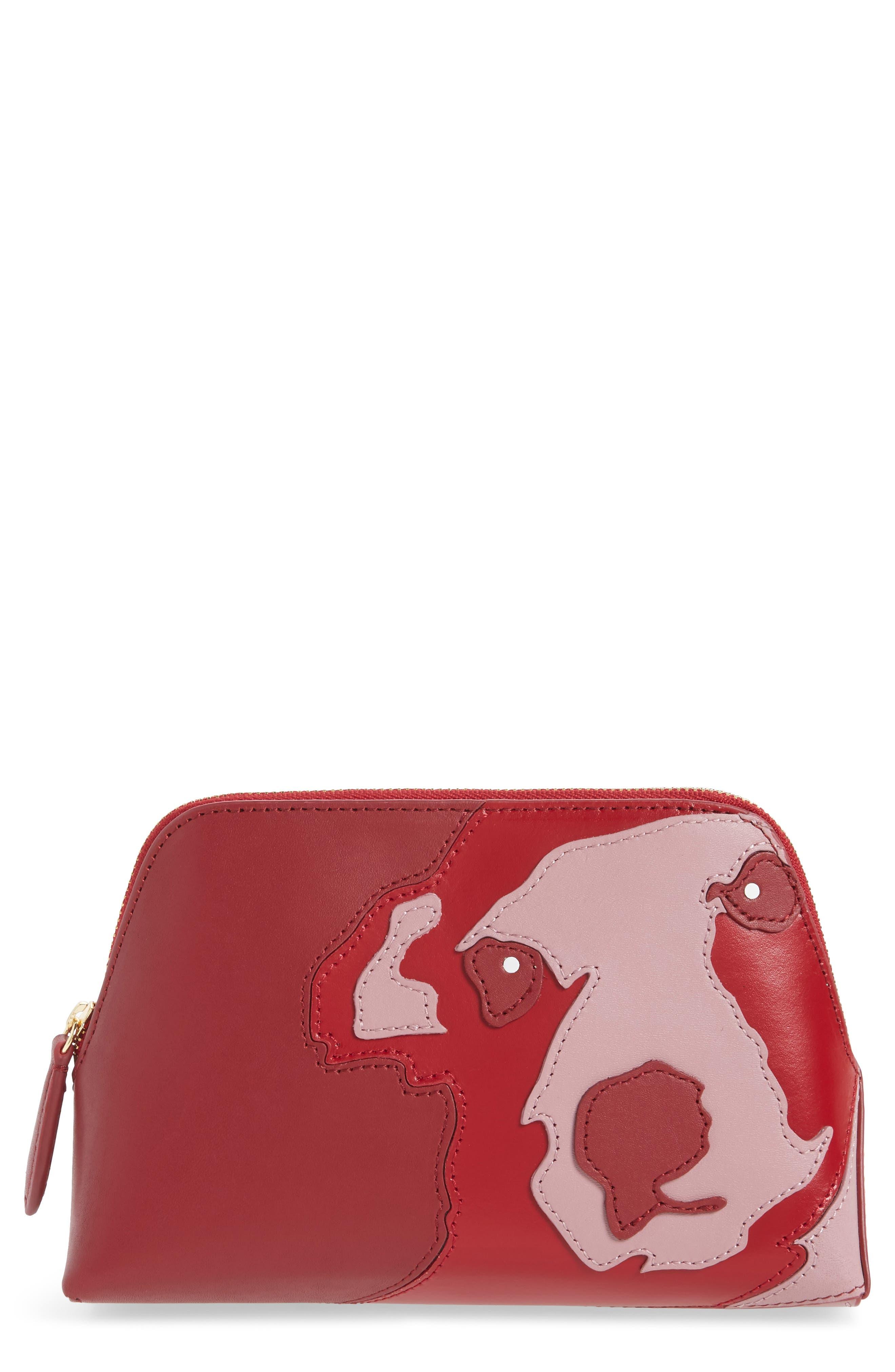 Diane von Furstenberg Leather Cosmetics Pouch