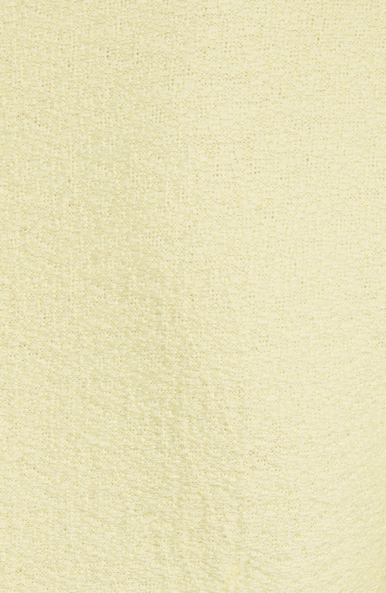 Hannah Knit Asymmetrical Sheath Dress,                             Alternate thumbnail 6, color,                             Citron