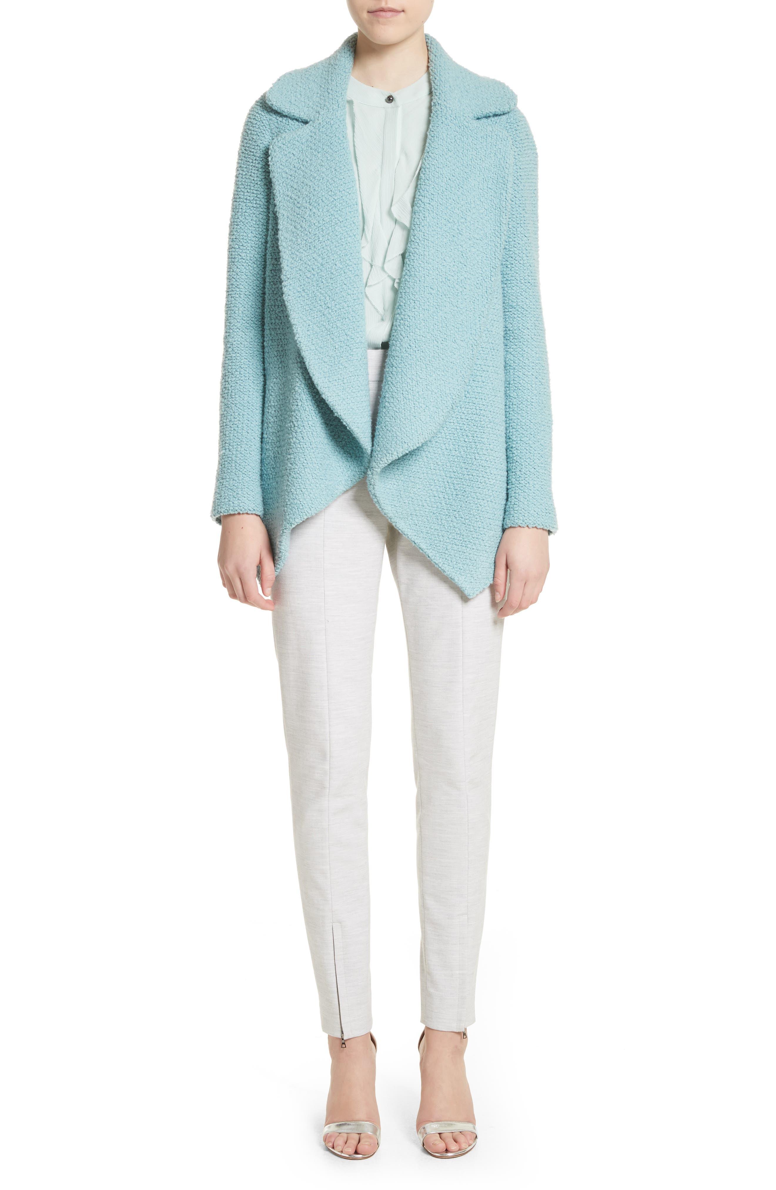 Summer Bella Double Weave Pants,                             Alternate thumbnail 2, color,                             Light Grey Melange