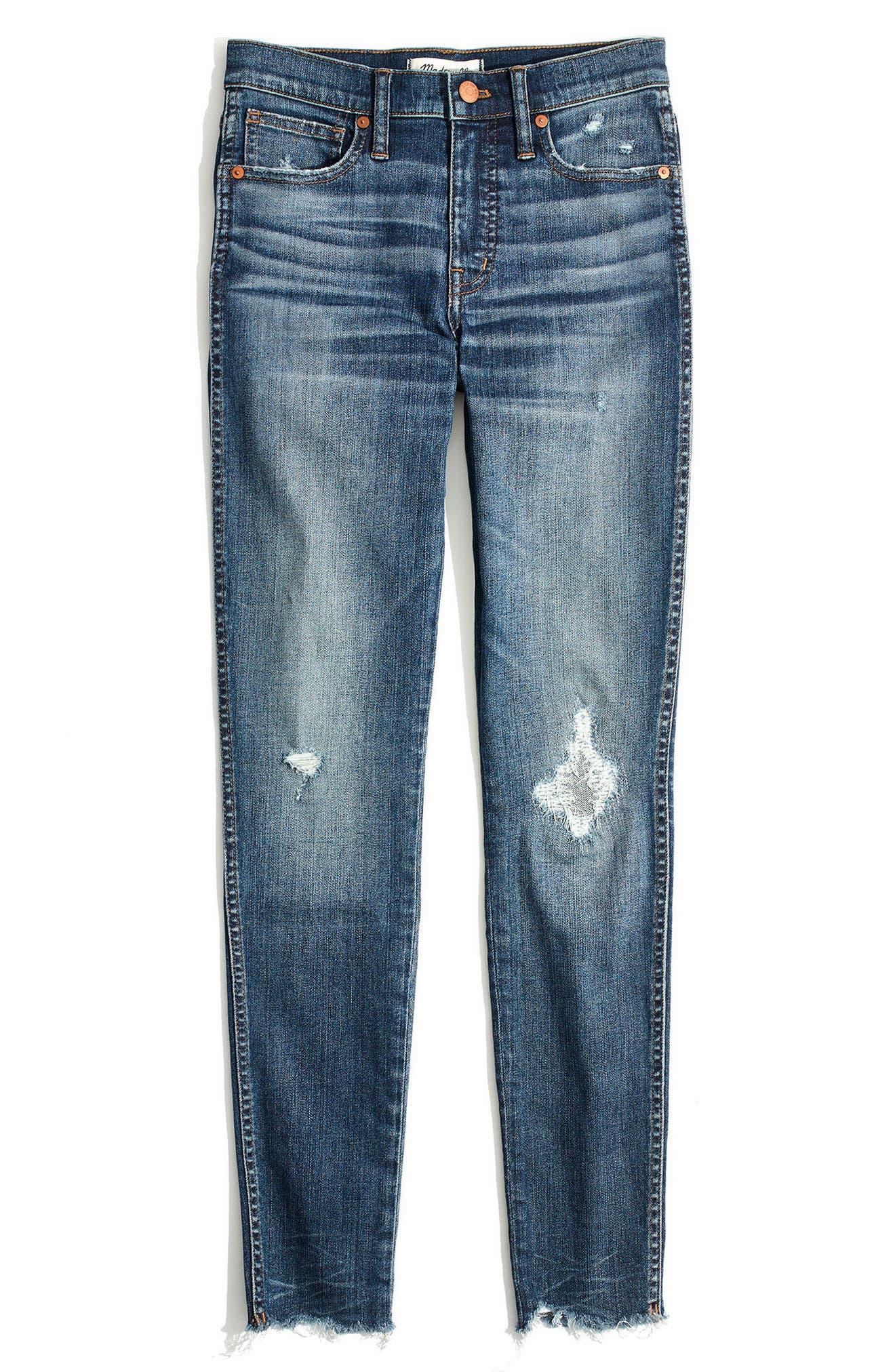Alternate Image 4  - Madewell 9-Inch High Waist Ankle Skinny Jeans (Allegra)