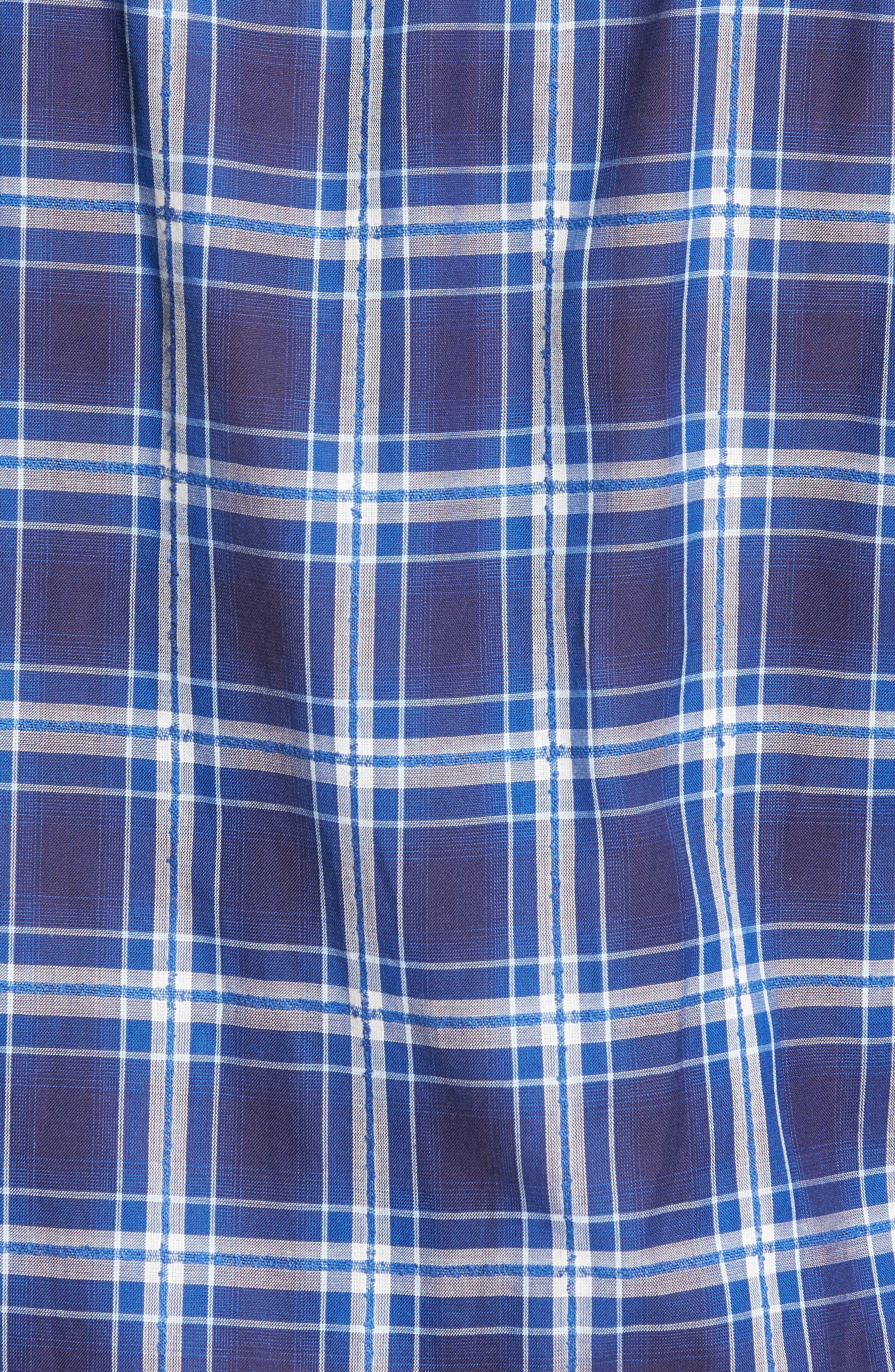Paradise Plaid Sport Shirt,                             Alternate thumbnail 5, color,                             Barchetta